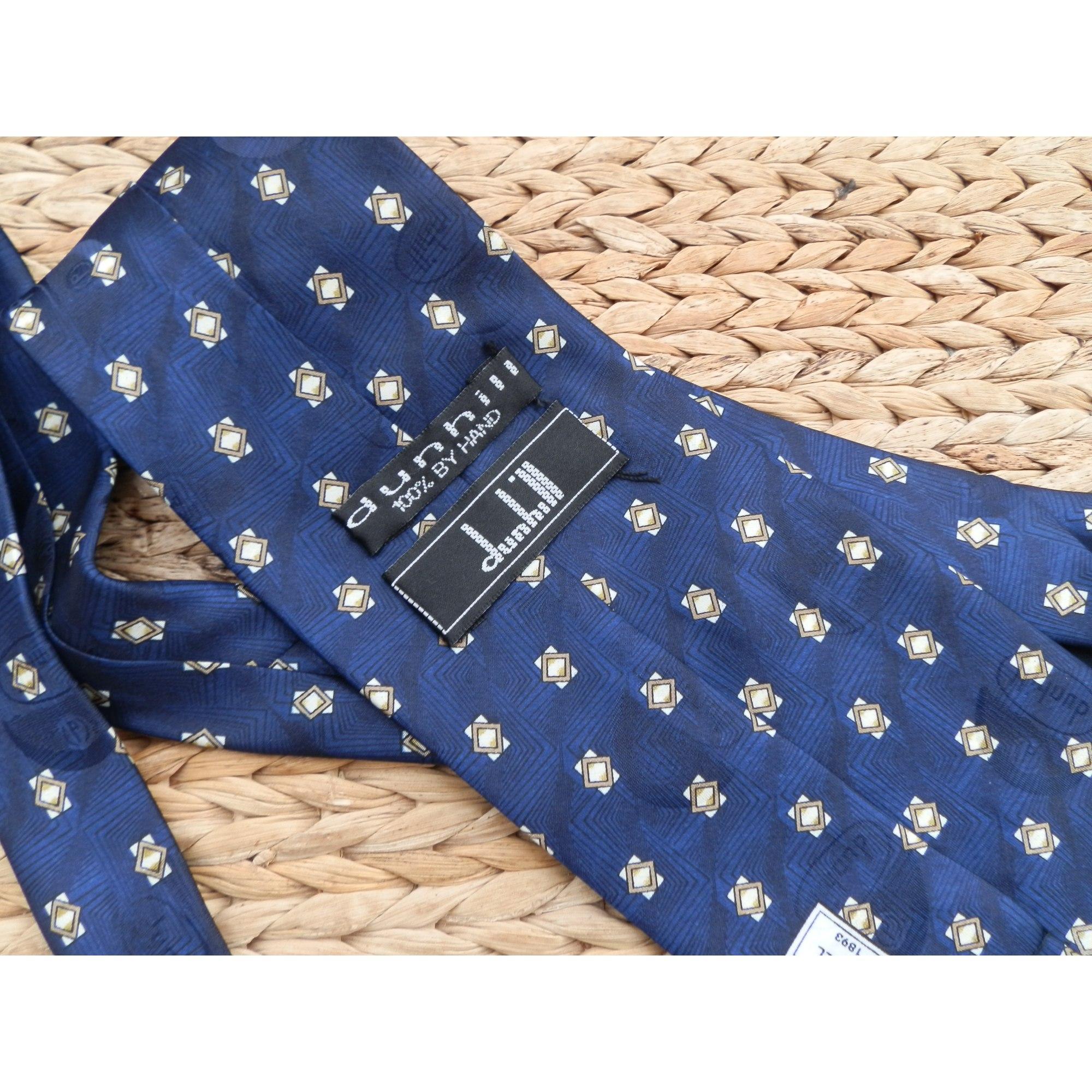 Cravate DUNHILL Bleu, bleu marine, bleu turquoise