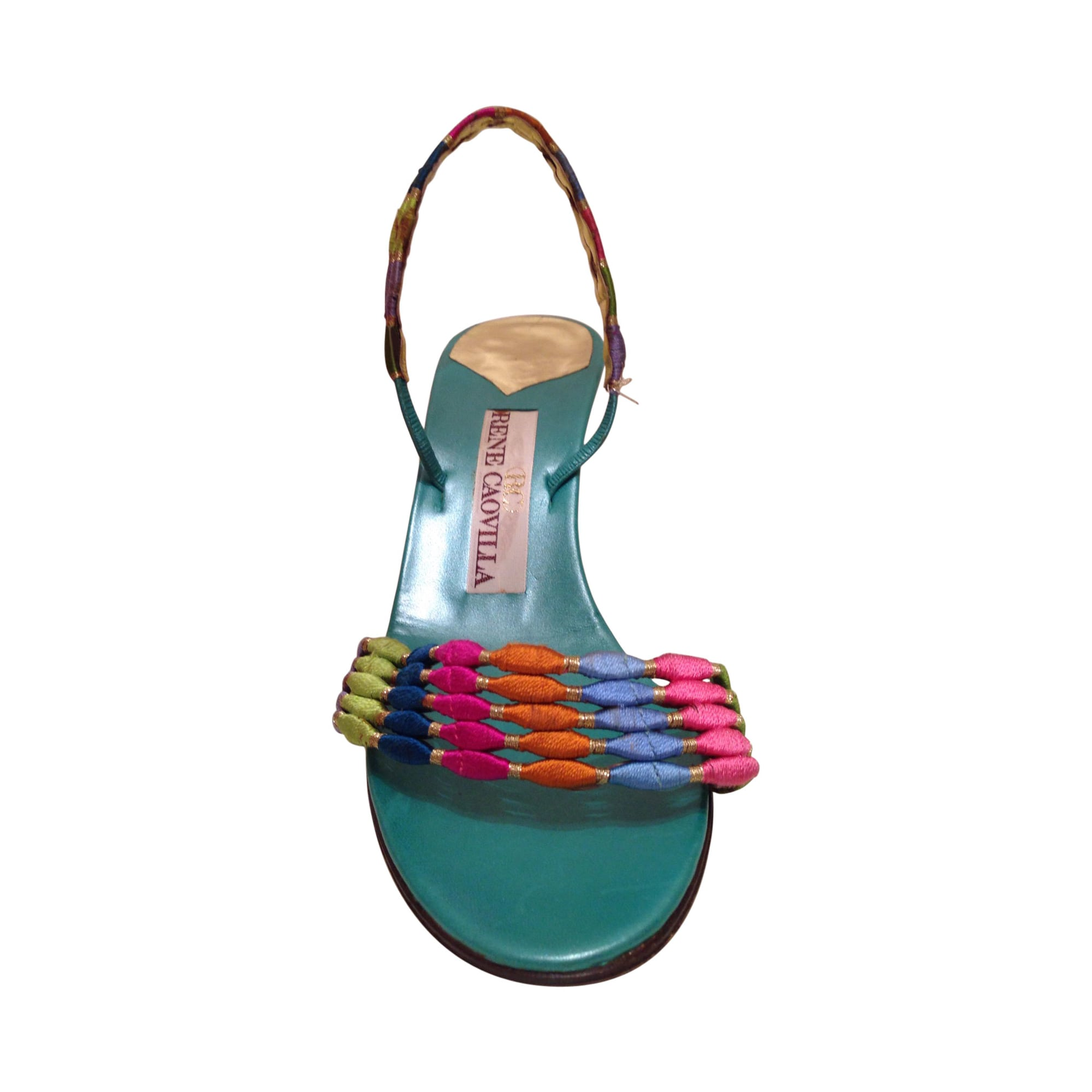 Sandales à talons RENÉ CAOVILLA Vert