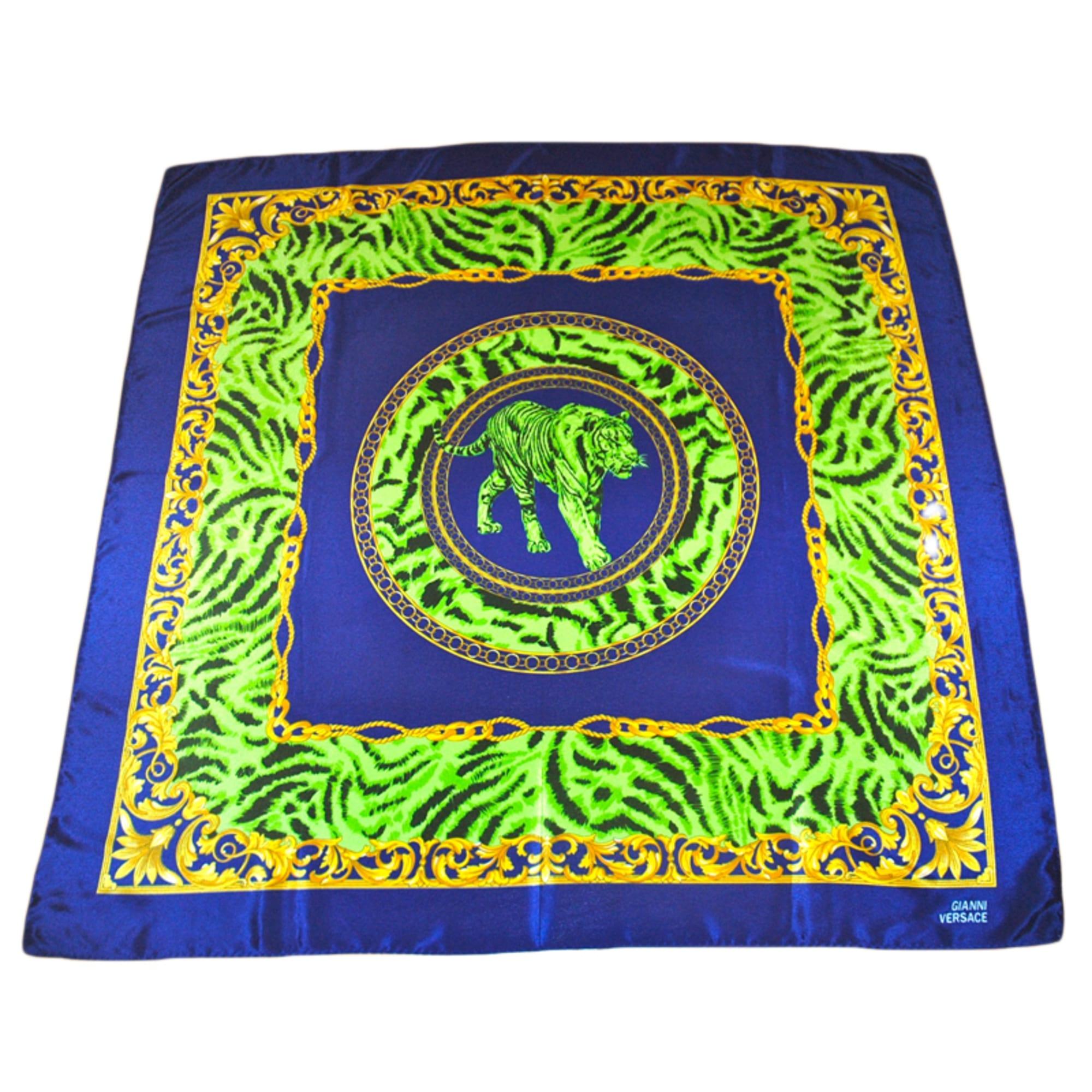 1ccd6085b05d Foulard VERSACE bleu et vert électriques vendu par Didith - 3213775