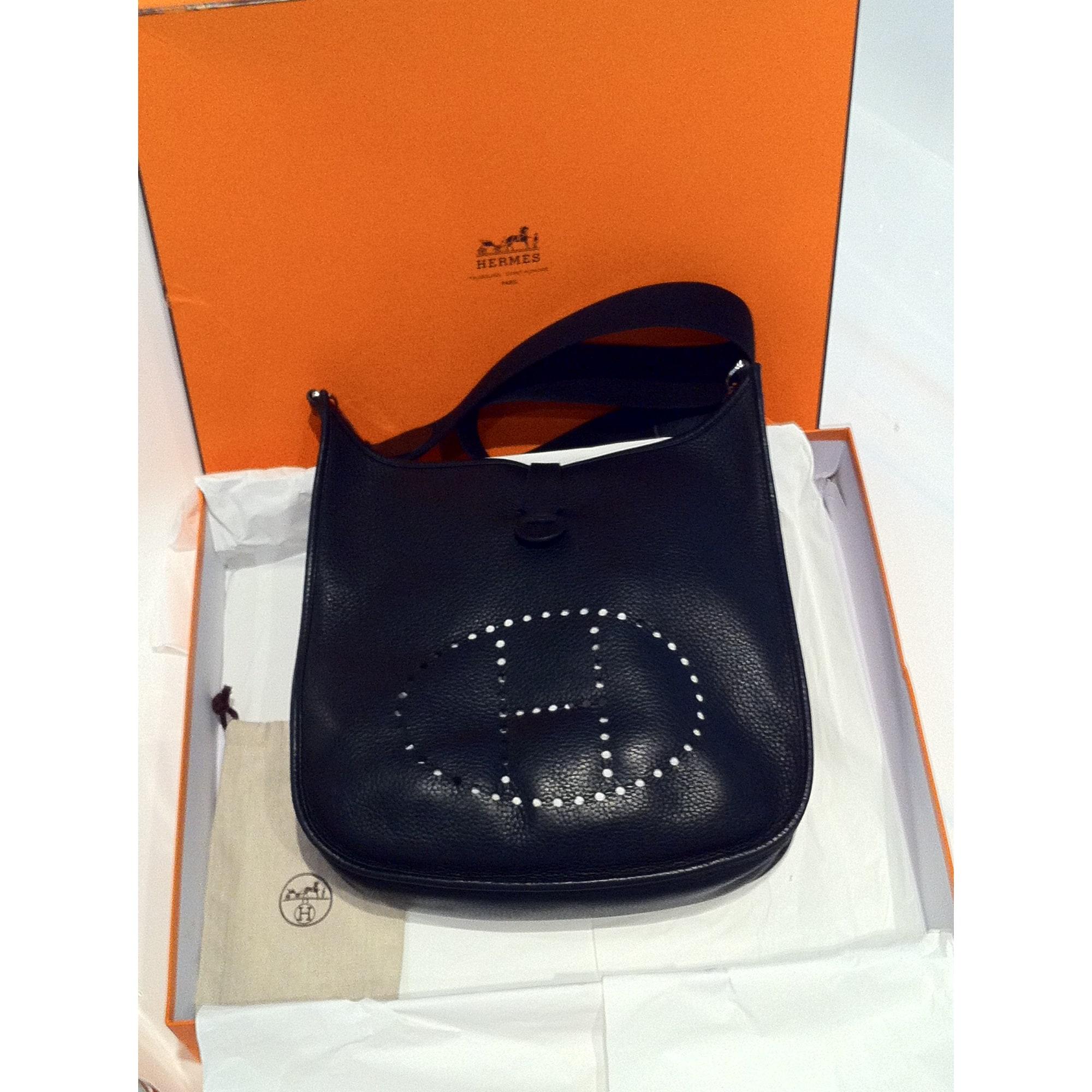 49ac38a2e8d Sac en bandoulière en cuir HERMÈS noir vendu par ❤ ❤ ❤️flore ...
