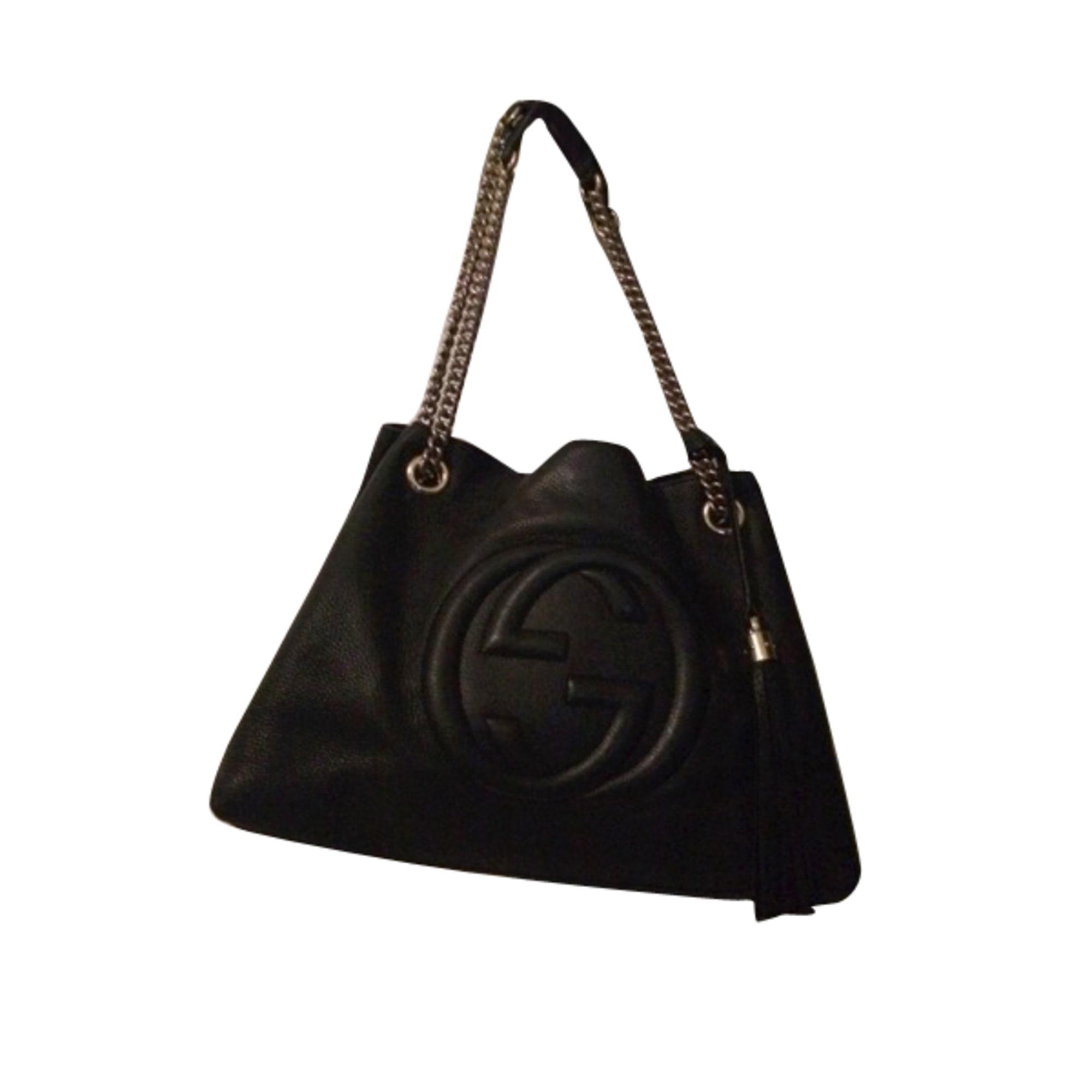 2f497fec3be Sac à main en cuir GUCCI noir vendu par Sarah 890545794 - 3219066