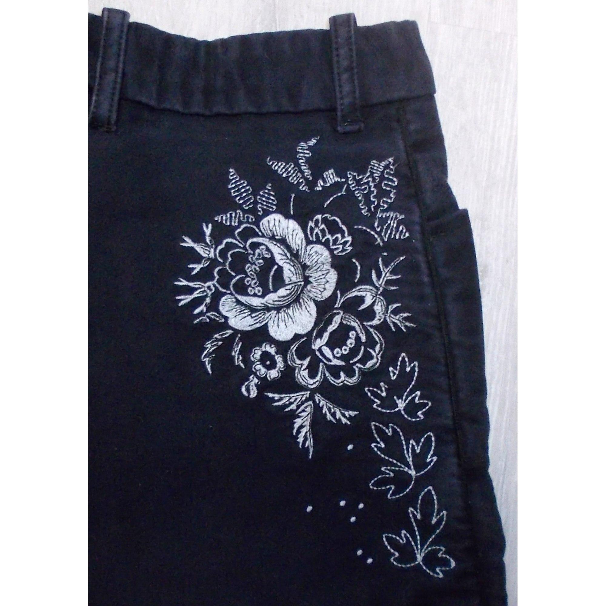 70e21531f8b9 Pantalon droit LES INDIENNES DE NÎMES 36 (S, T1) noir - 3227766