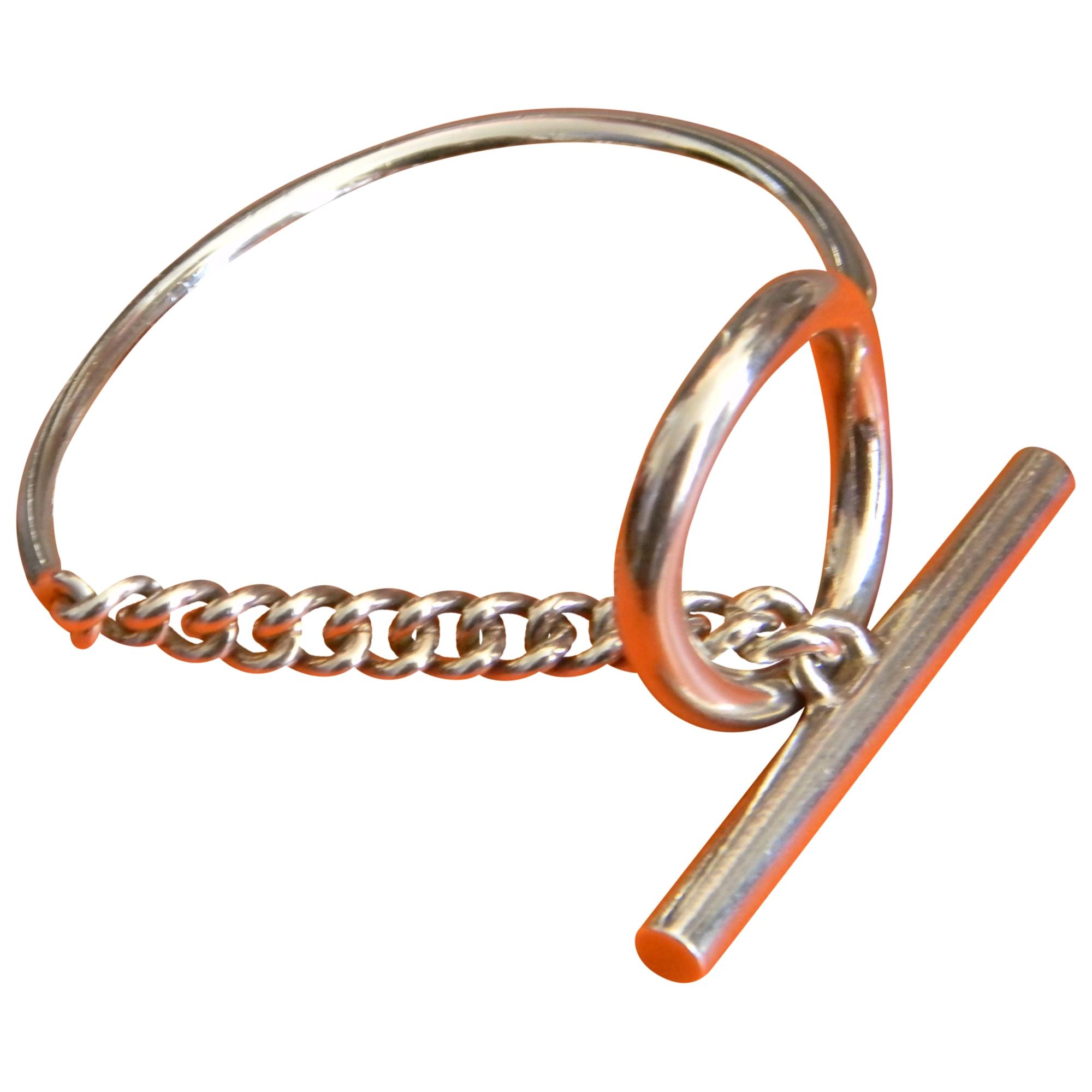 a783e5d1d94 Bracelet HERMÈS croisette argenté vendu par Caroline 882108649 - 3315595