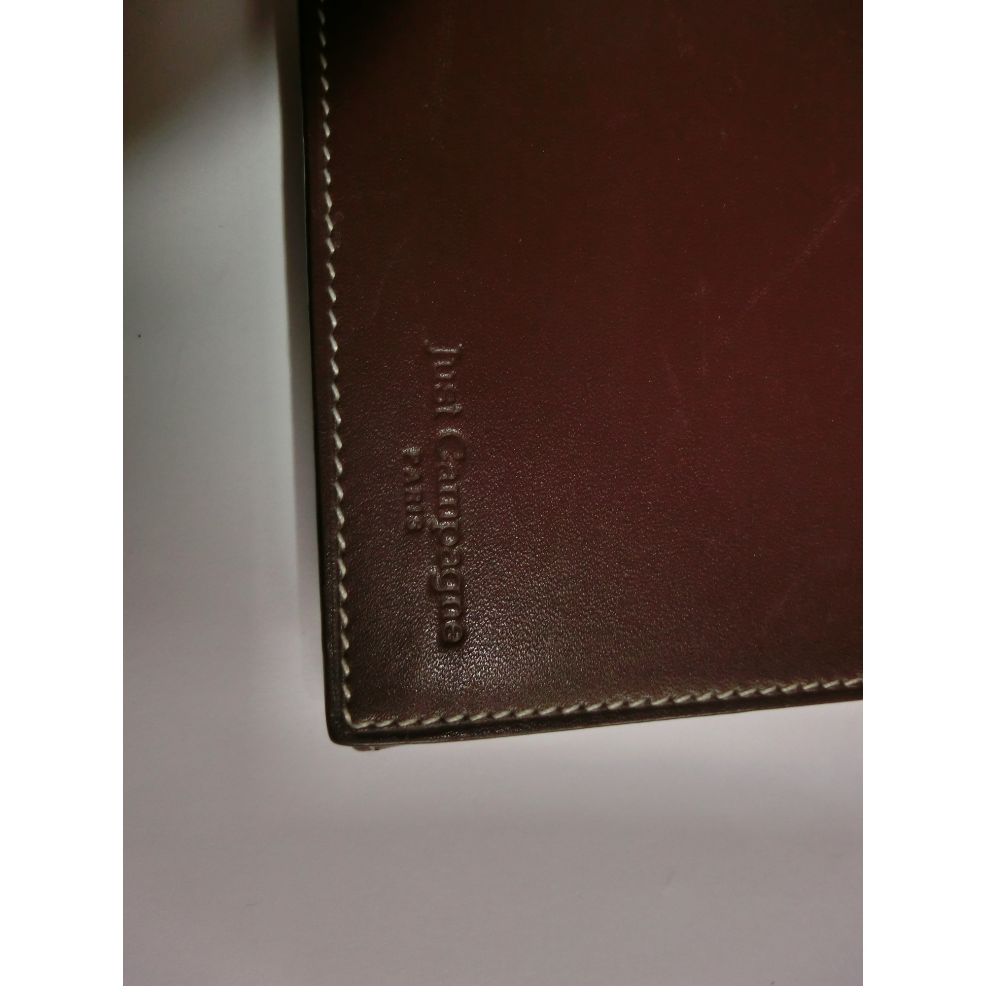 Portefeuille JUST CAMPAGNE cuir marron