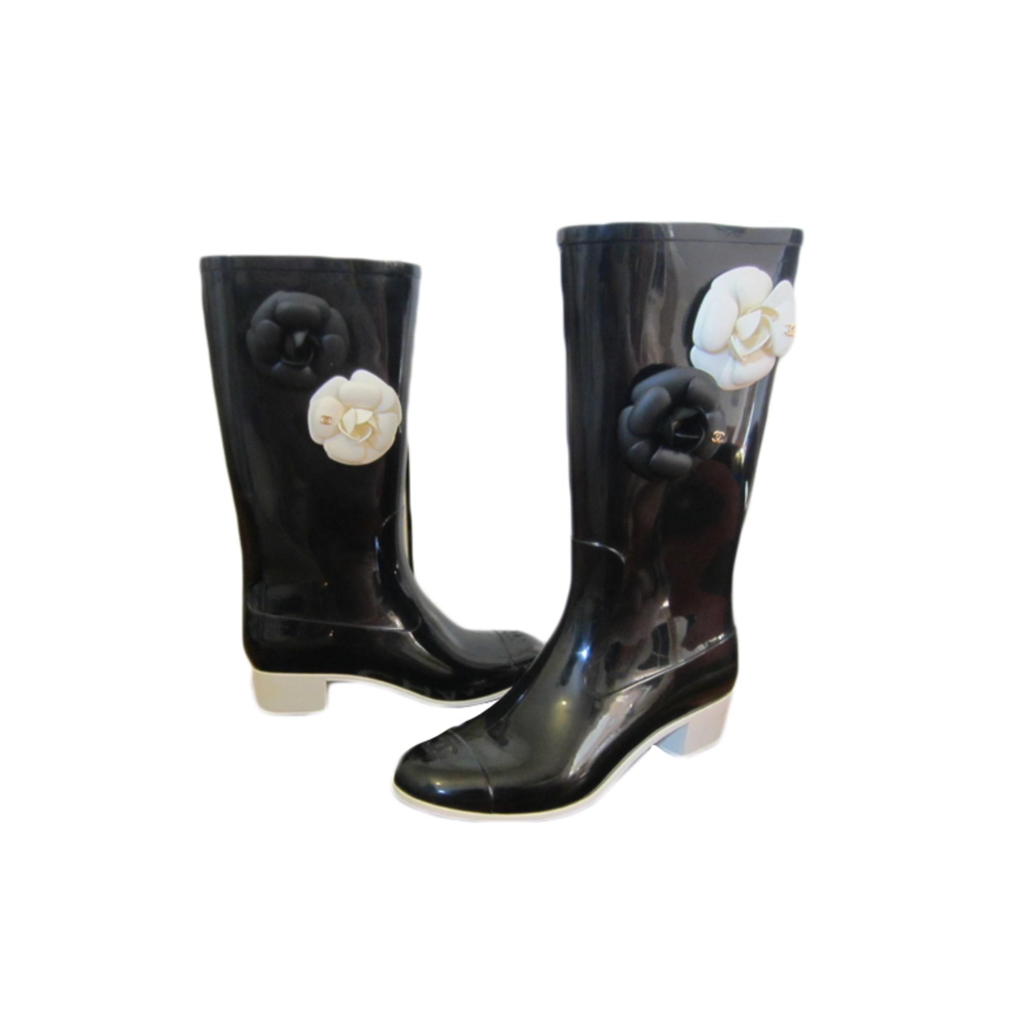 Bottes de pluie CHANEL 39 noir vendu par Andam - 3346157 000ef8847c1