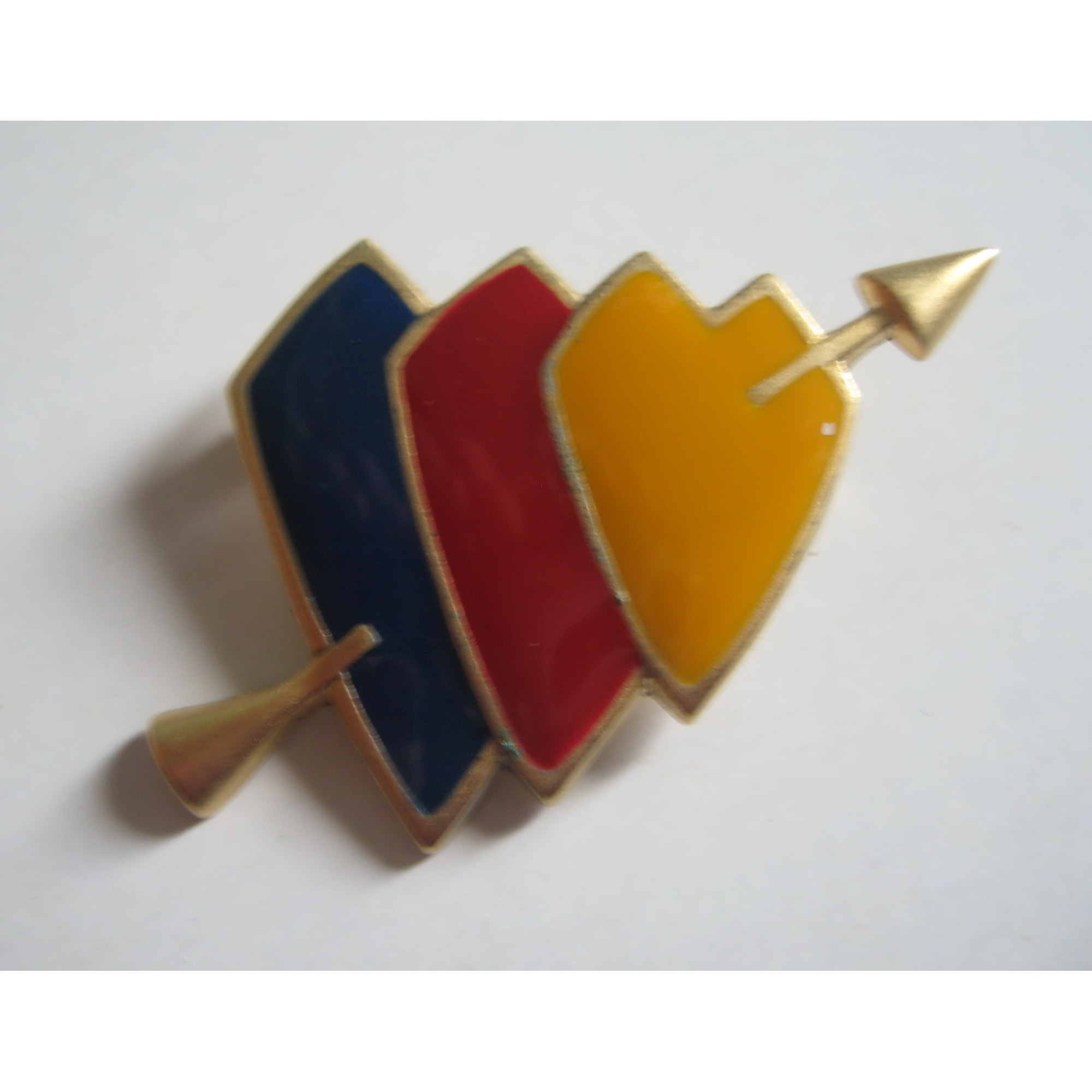 Broche CLAUDE MONTANA métal multicolore