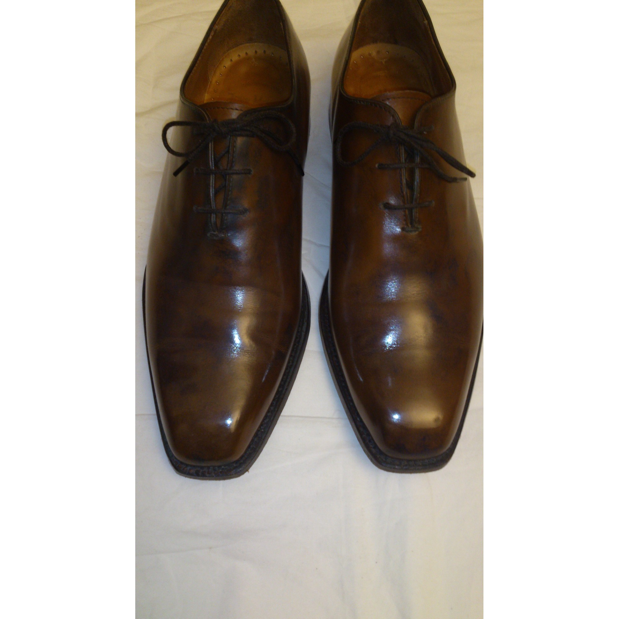 ebc53ca76002 Chaussures à lacets JOHN MENDSON 42 marron vendu par Tomboss - 3357686
