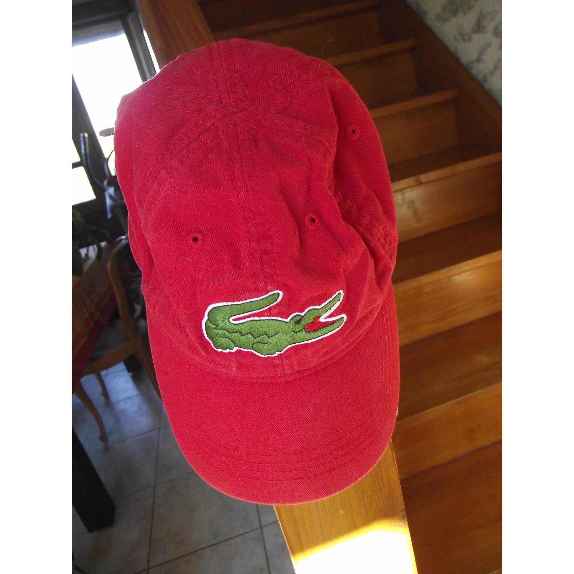 b4812c6f7e7 Cap LACOSTE One rouge vendu par Caroline 4220 - 3359672