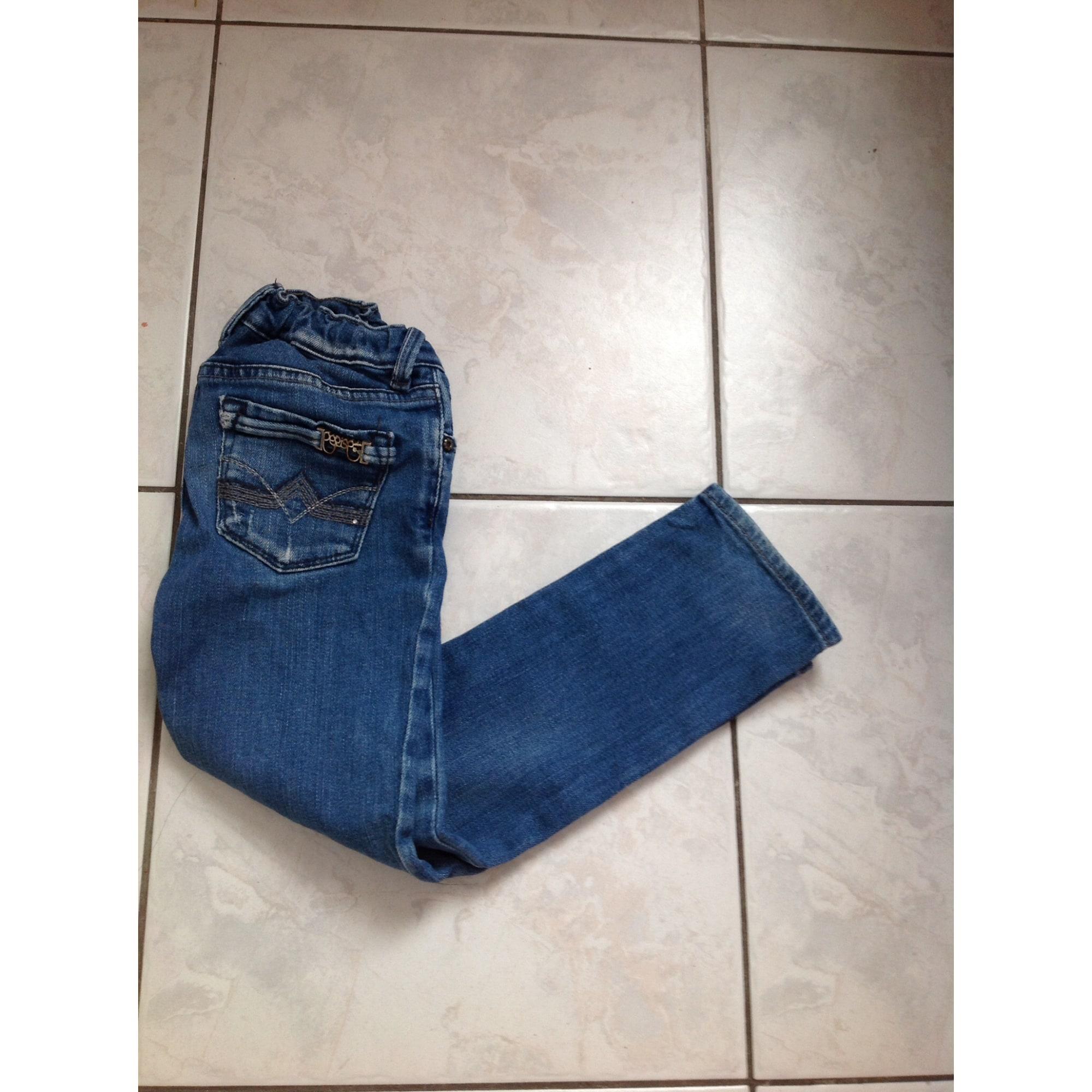 Jeans droit TEMPS DES CERISES coton bleu 3-4 ans