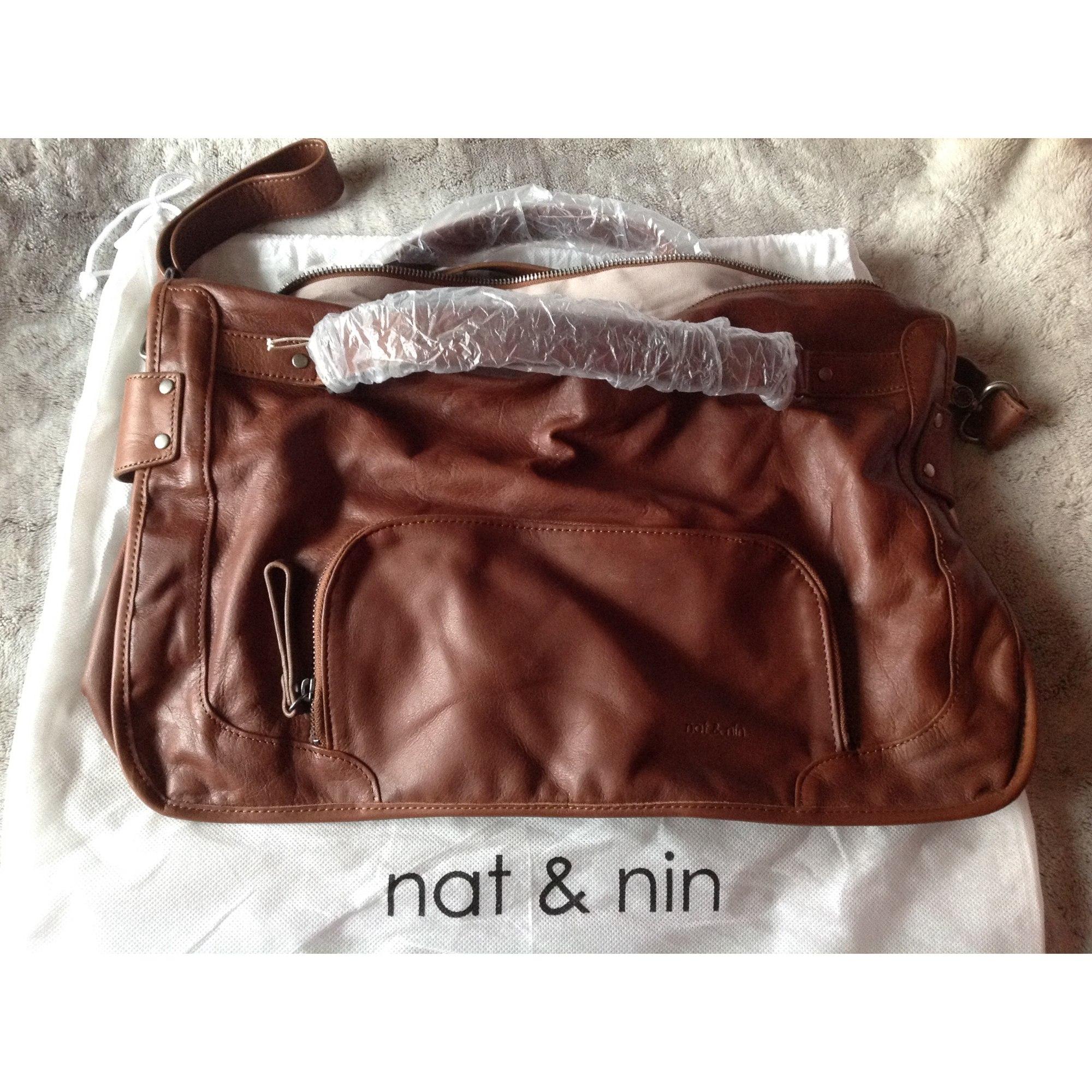 6ed7f63de8 Sac à main en cuir NAT & NIN marron vendu par Amélie 139 - 3375896