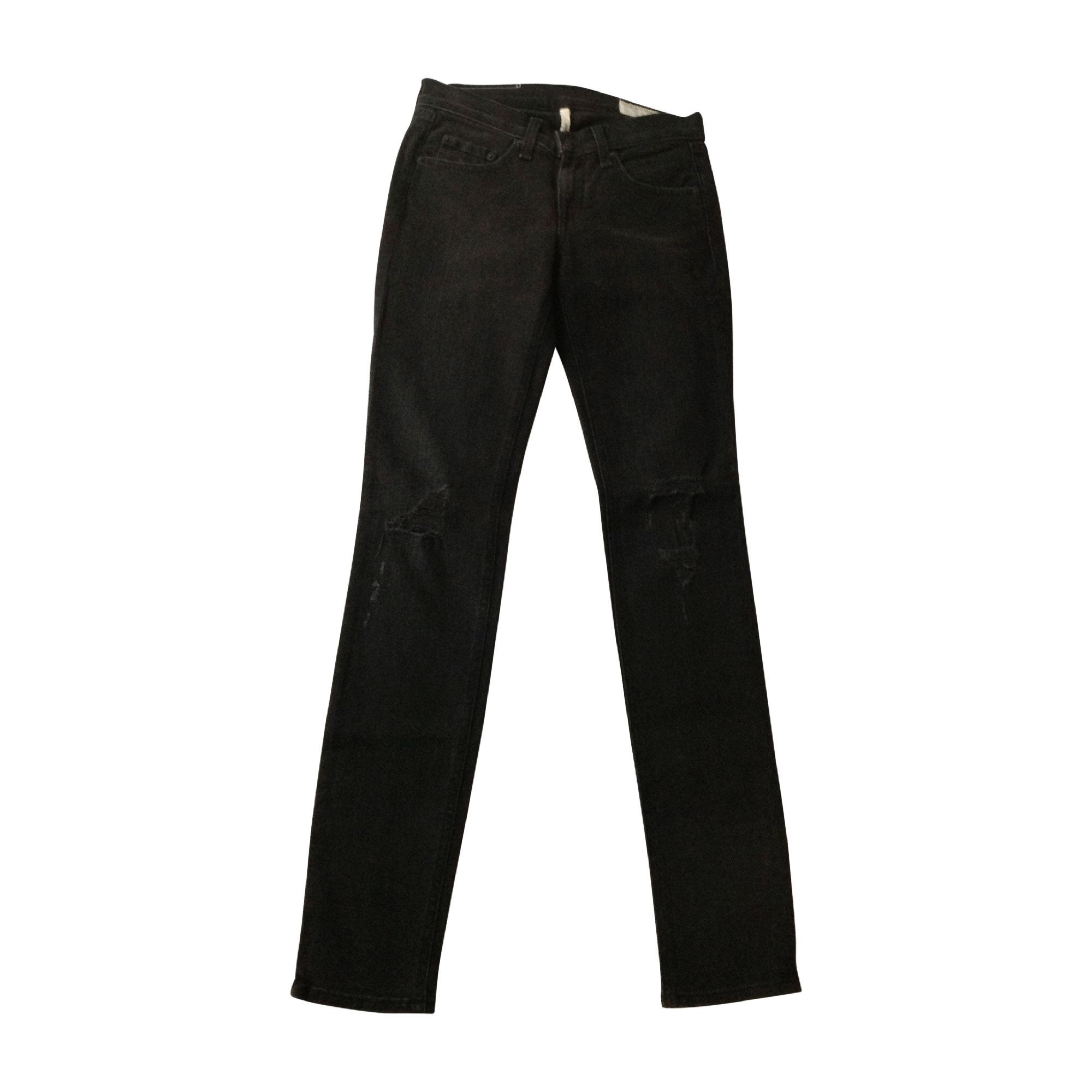 Jeans slim RAG   BONE W24 (T 32-34) gris - 3377378 1bb14d174dbb