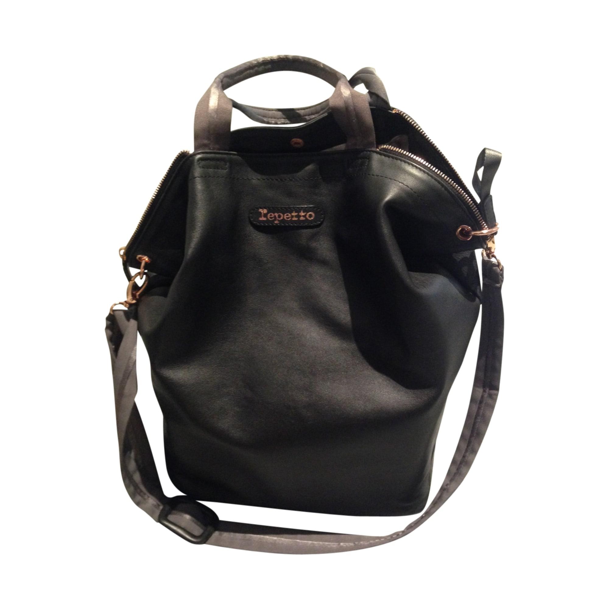 38aa72d8c38 Sac à main en cuir REPETTO noir vendu par Lily m211769 - 3385053