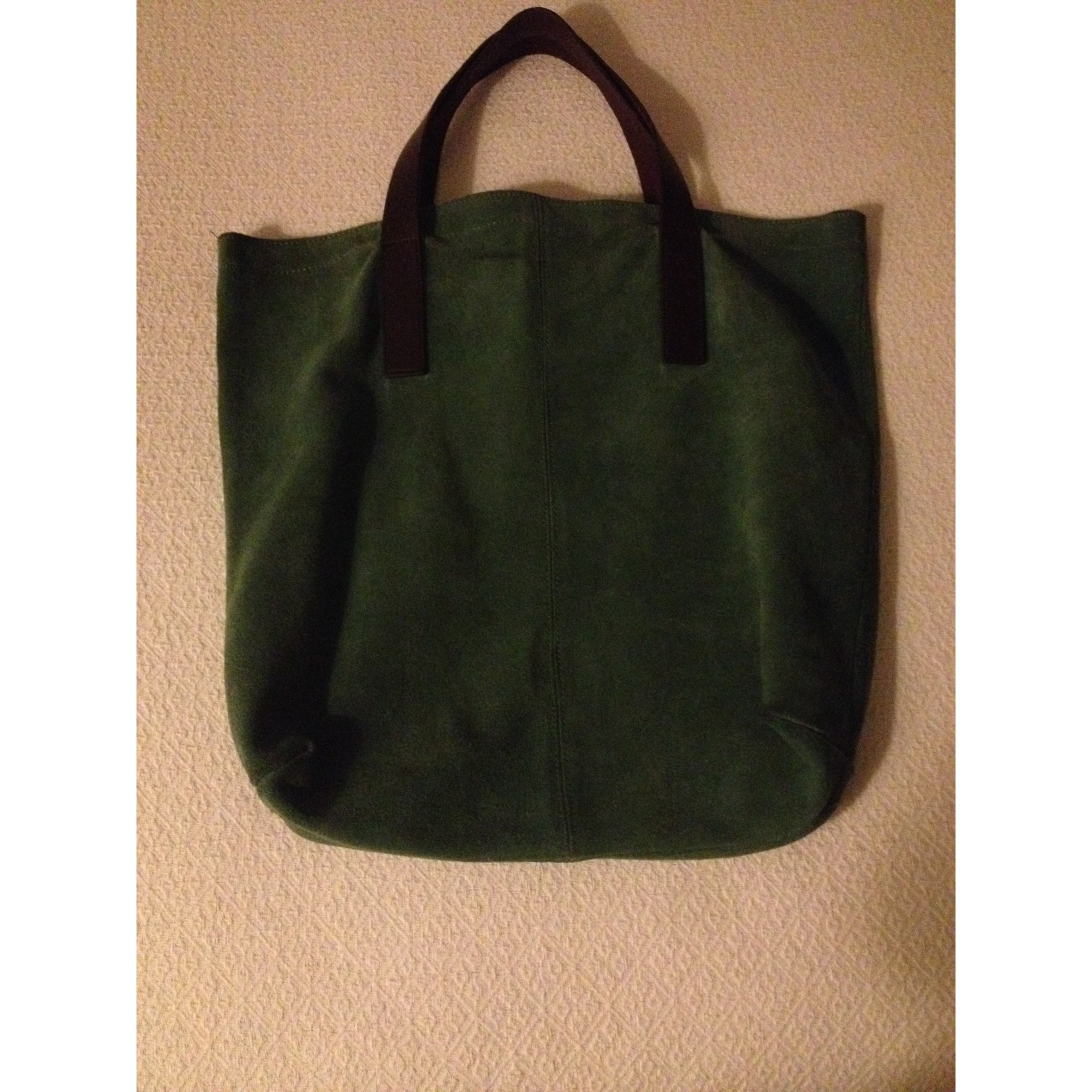 0c452d57b78c Sac à main en cuir MONOPRIX vert vendu par Vide dressing d ataline ...
