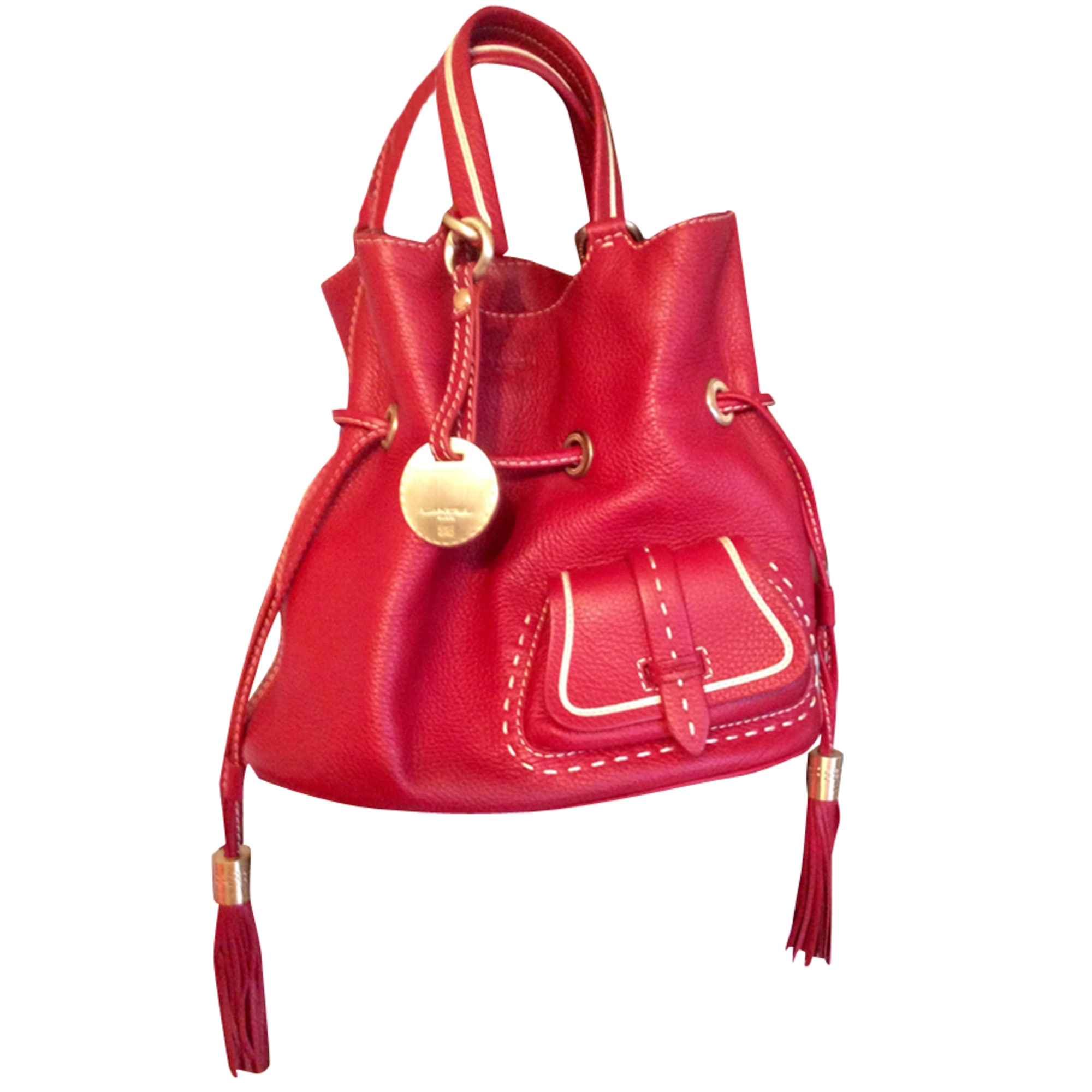 sac en bandoulière en cuir lancel rouge 3391760