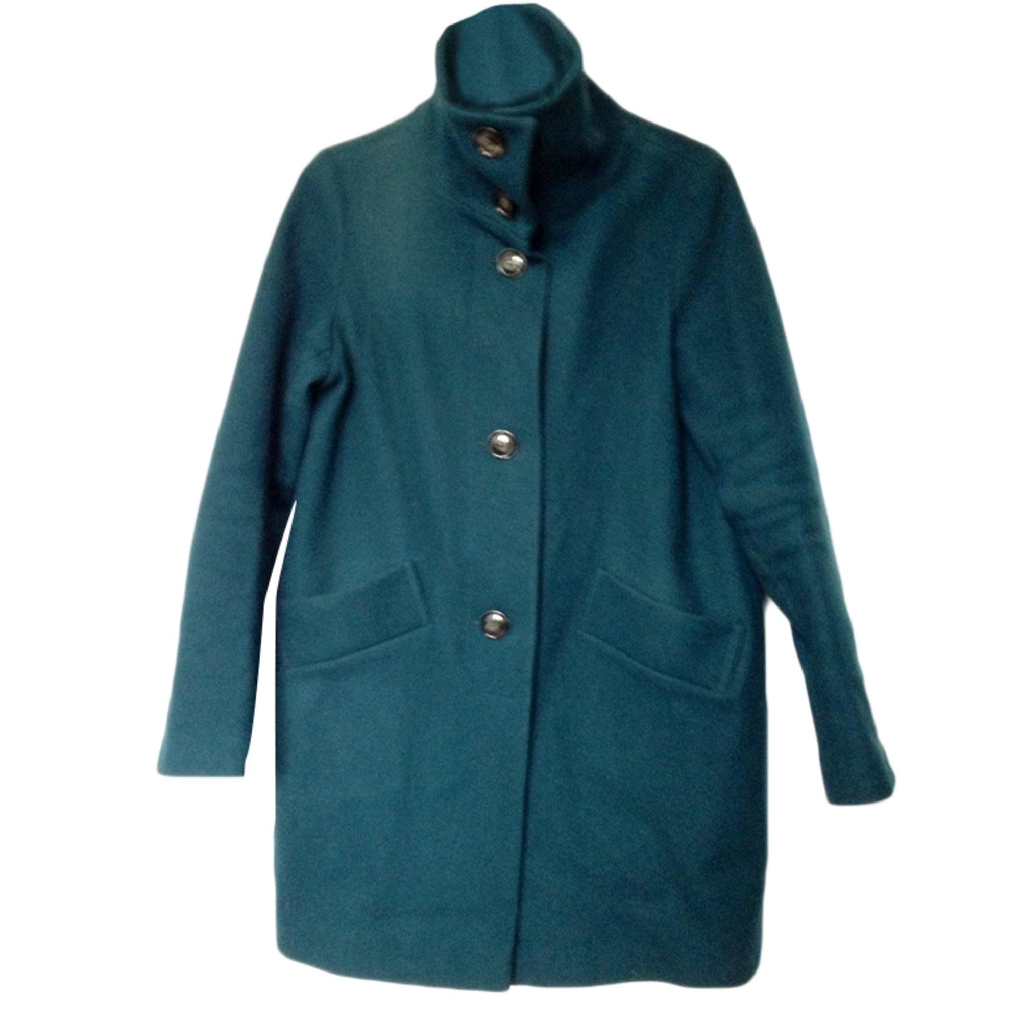 manteau bleu canard avec sac