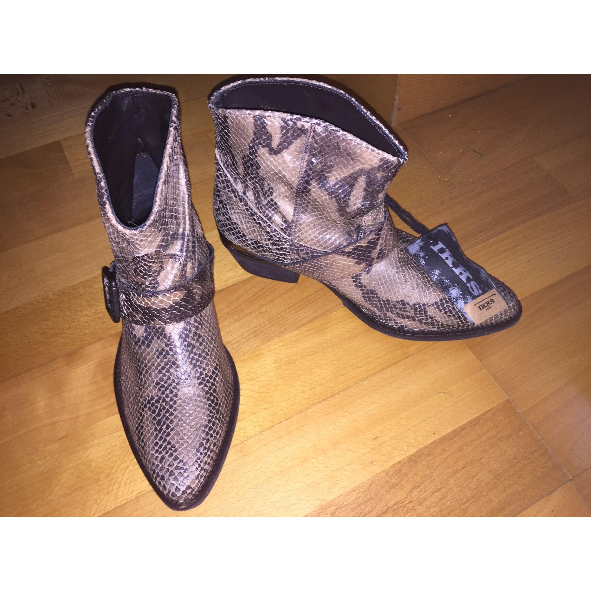 d8b8dee1e Santiags, bottines, low boots cowboy IKKS