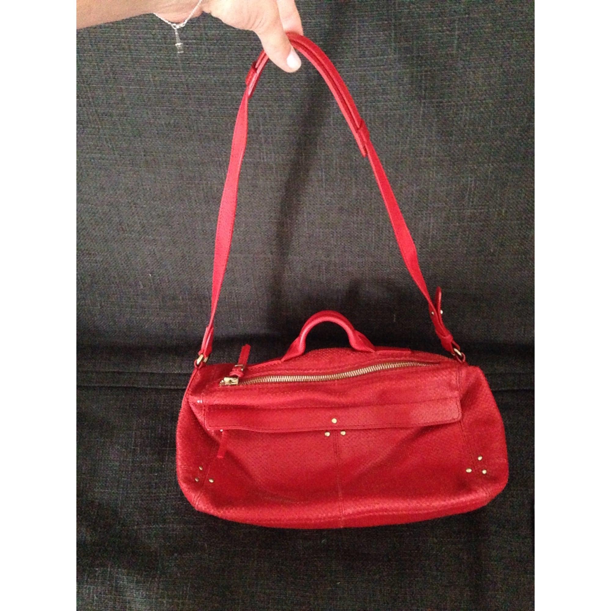 546f5bc216e Sac en bandoulière en cuir JEROME DREYFUSS rouge vendu par ...
