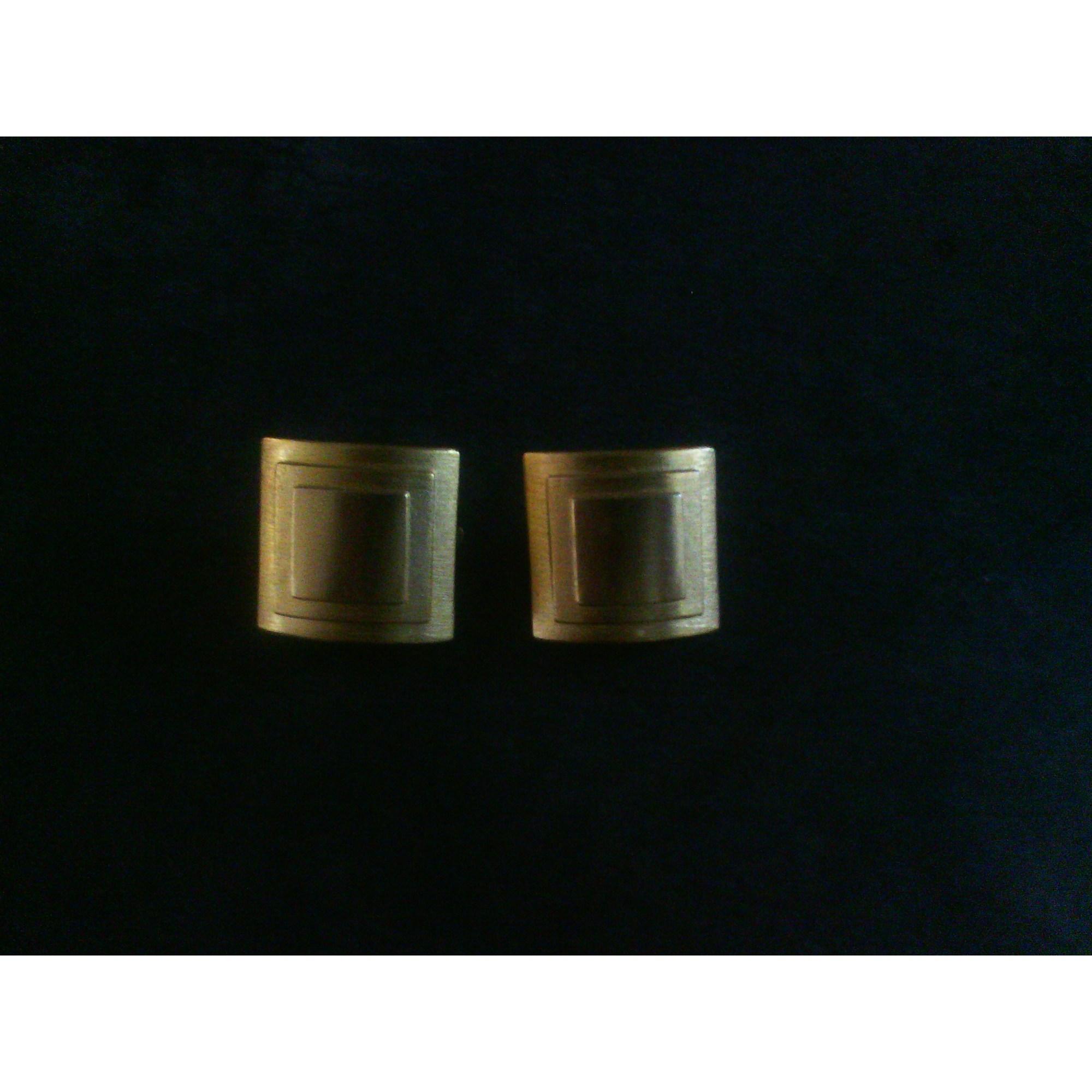 Boucles d'oreille HELENA RUBINSTEIN métal doré