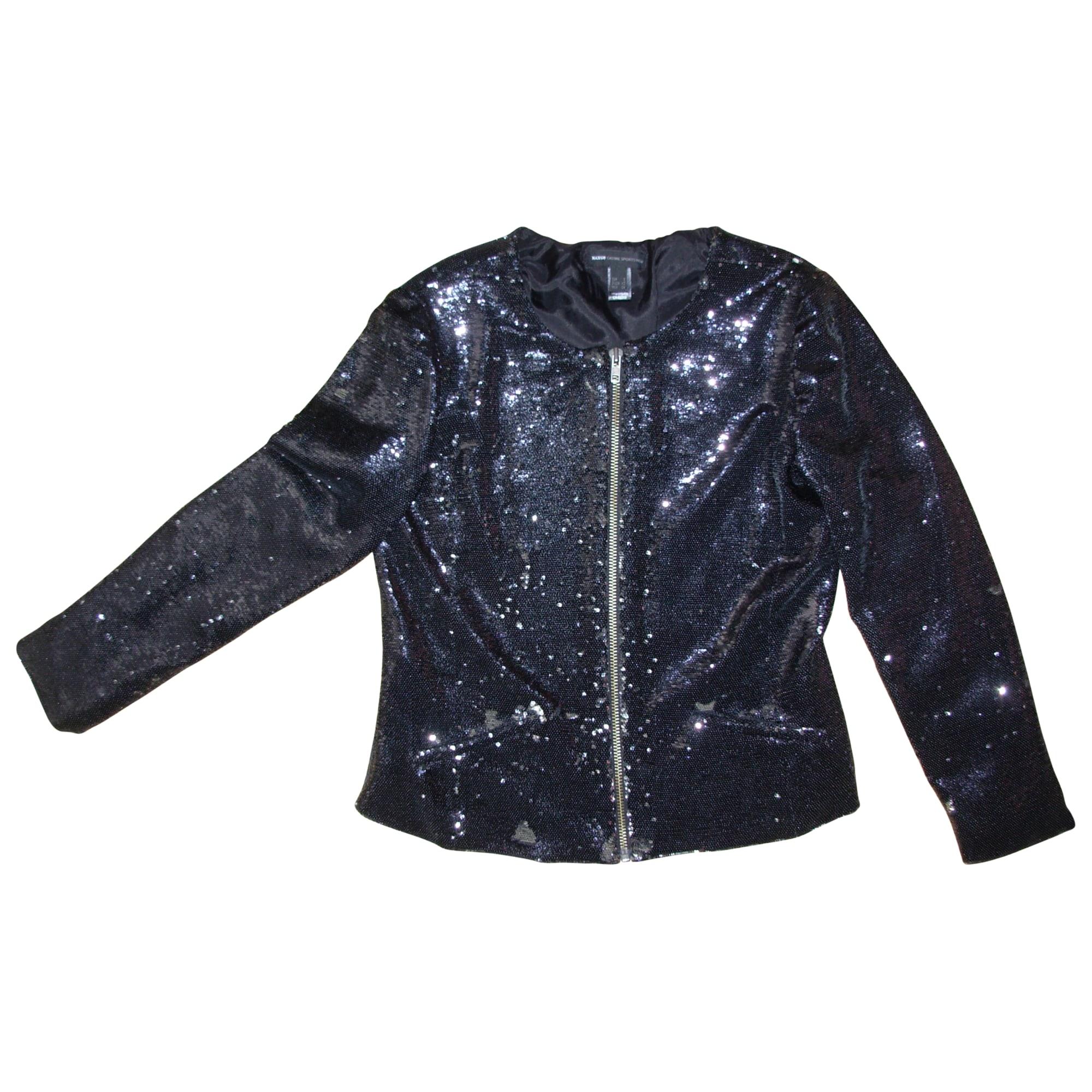 5d736cec4bf29 Veste MANGO 36 (S, T1) noir - 3503446