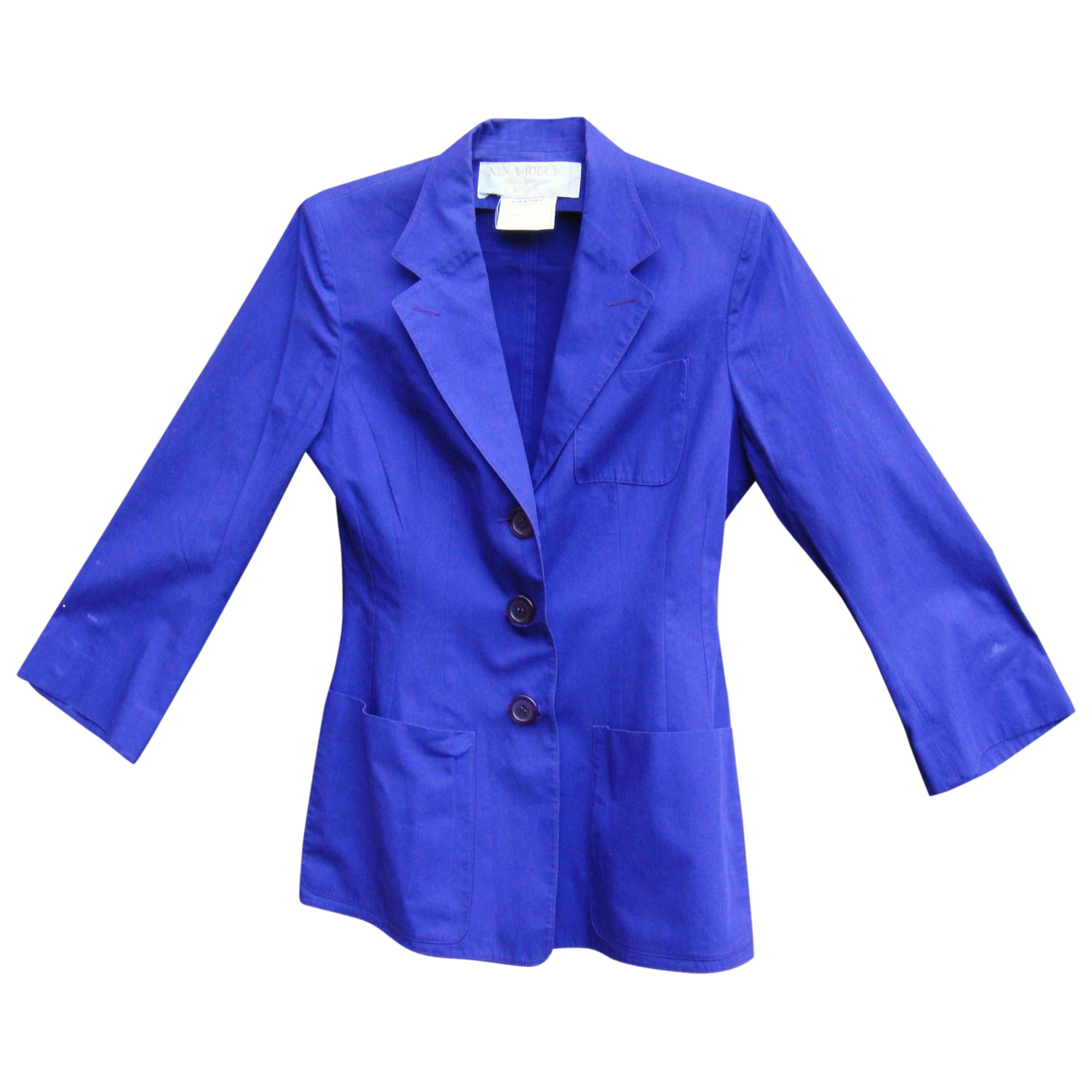 Veste NINA RICCI Bleu, bleu marine, bleu turquoise