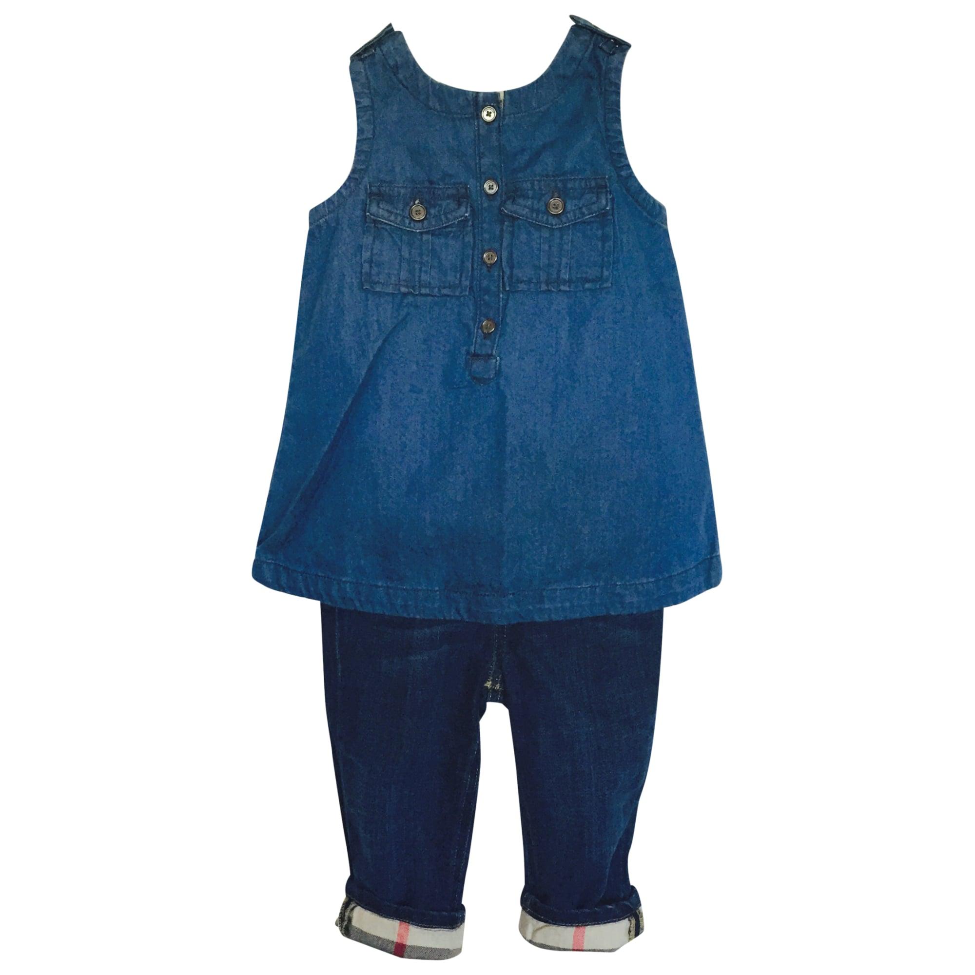 Ensemble & Combinaison pantalon BURBERRY Bleu, bleu marine, bleu turquoise