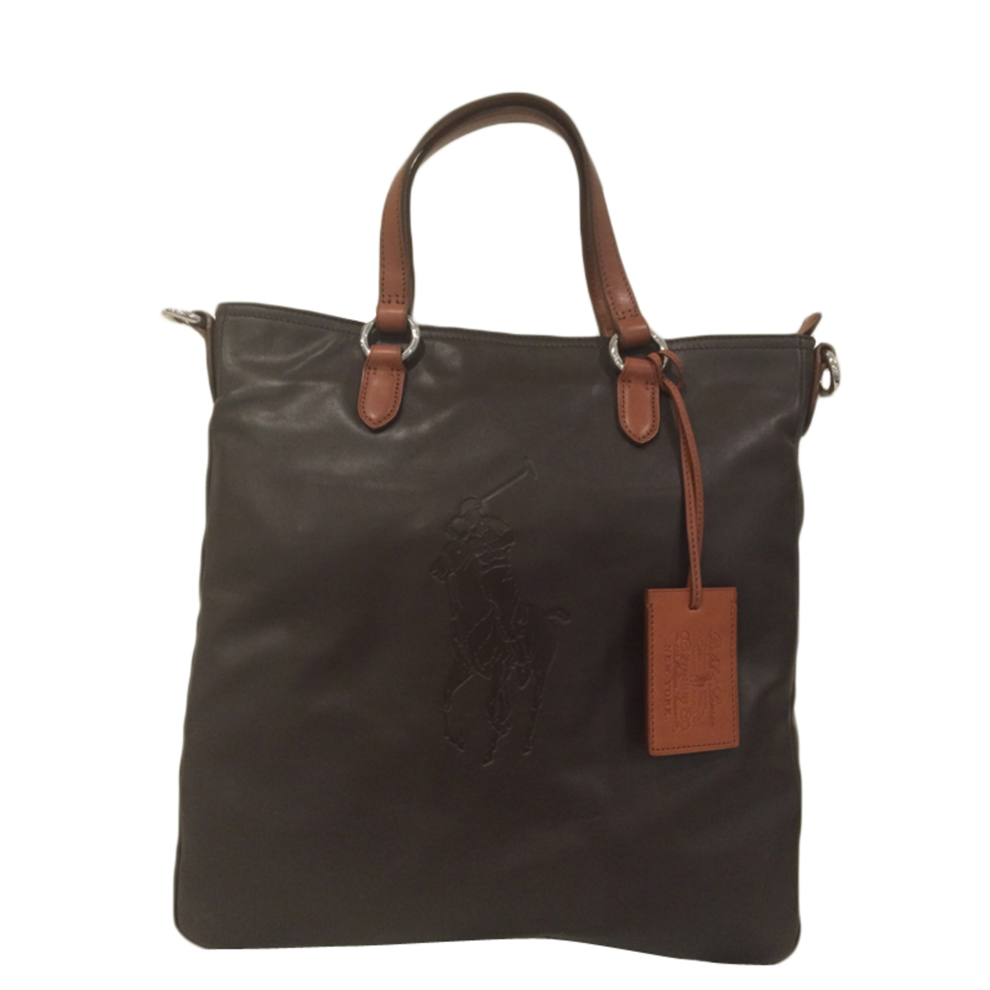 Sac XL en cuir RALPH LAUREN Marron
