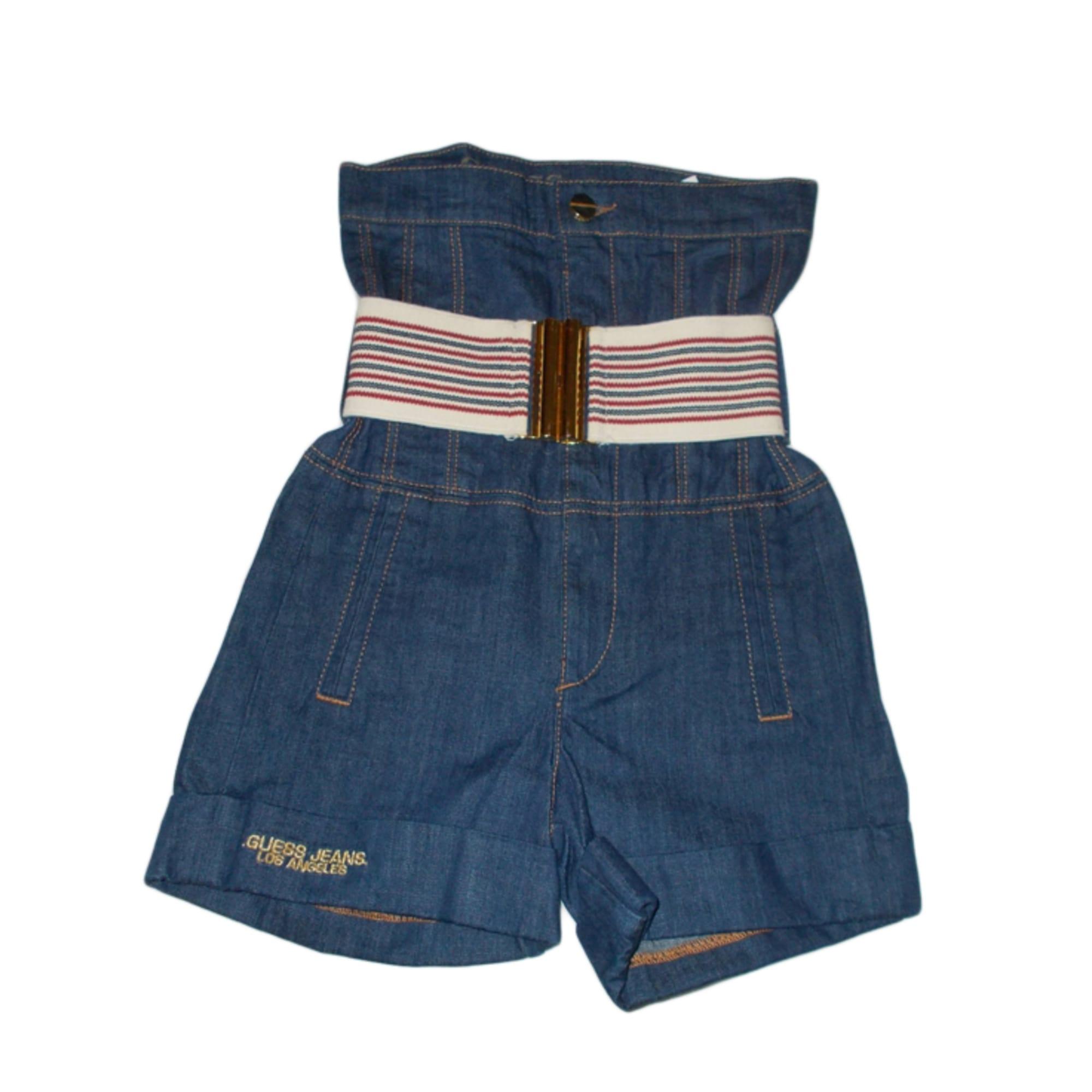 Short en jean GUESS Bleu, bleu marine, bleu turquoise