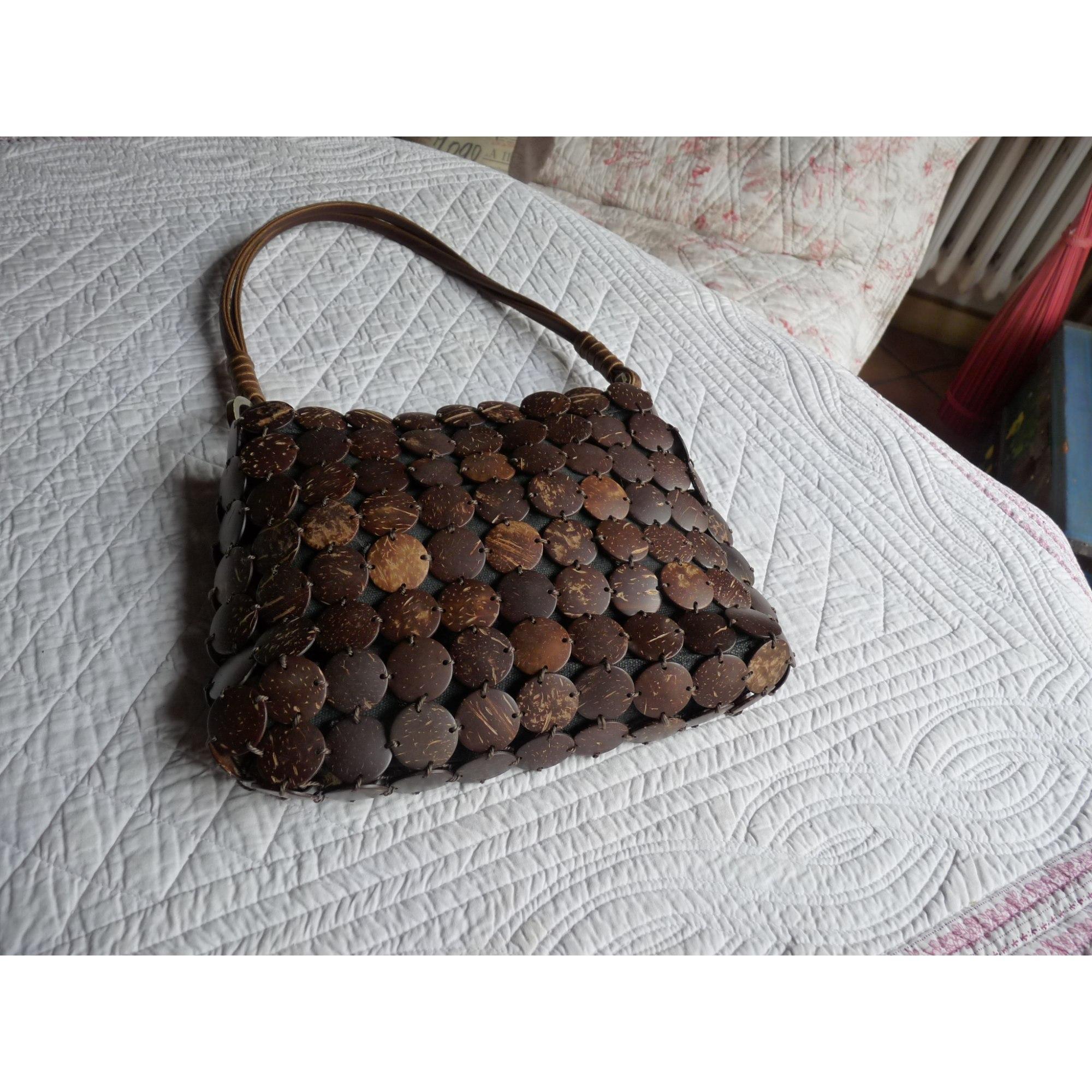 01b62de63c Sac à main en tissu CAROLL marron vendu par Suzon135373 - 3611643