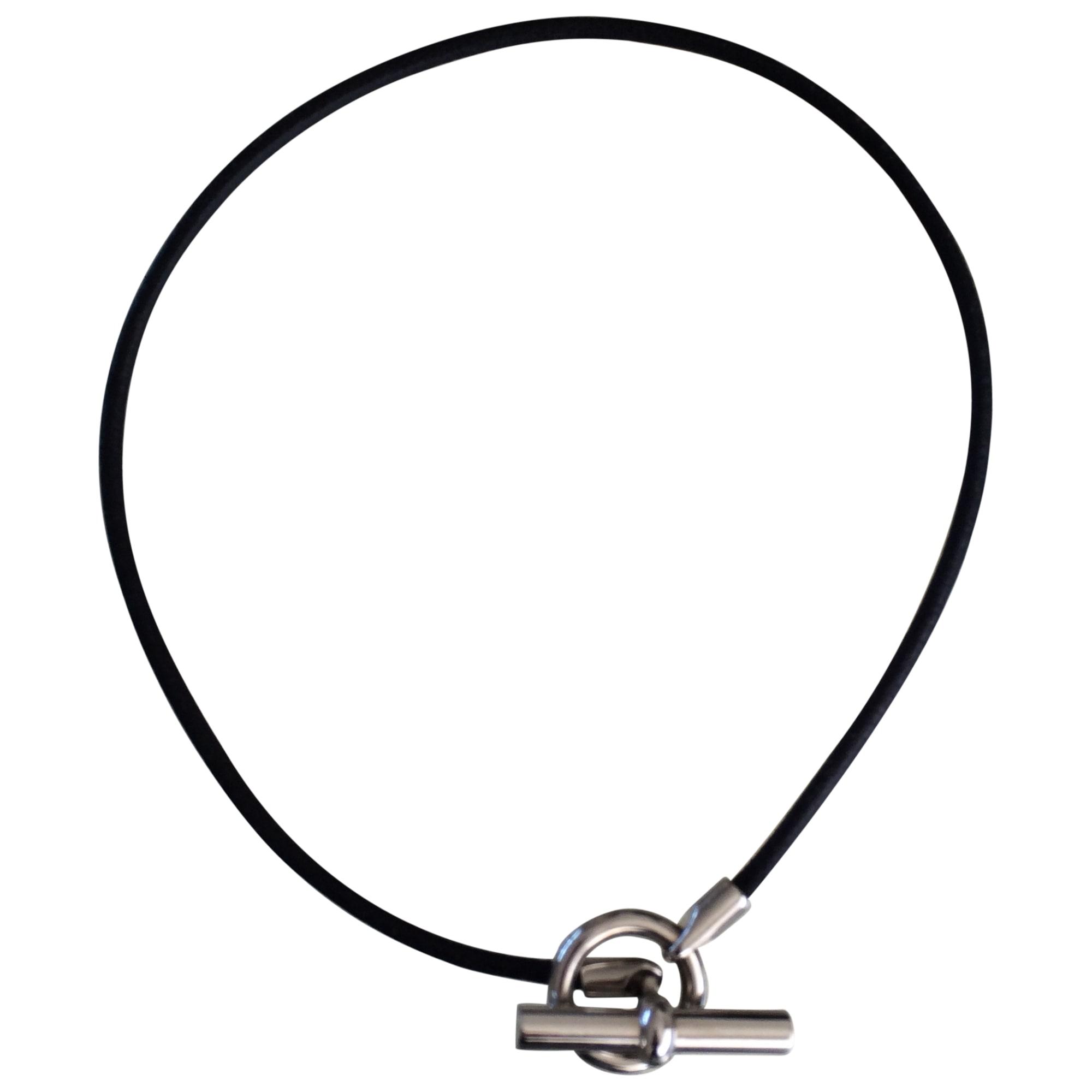 Collier HERMÈS noir - 3619292 2c7642422d3
