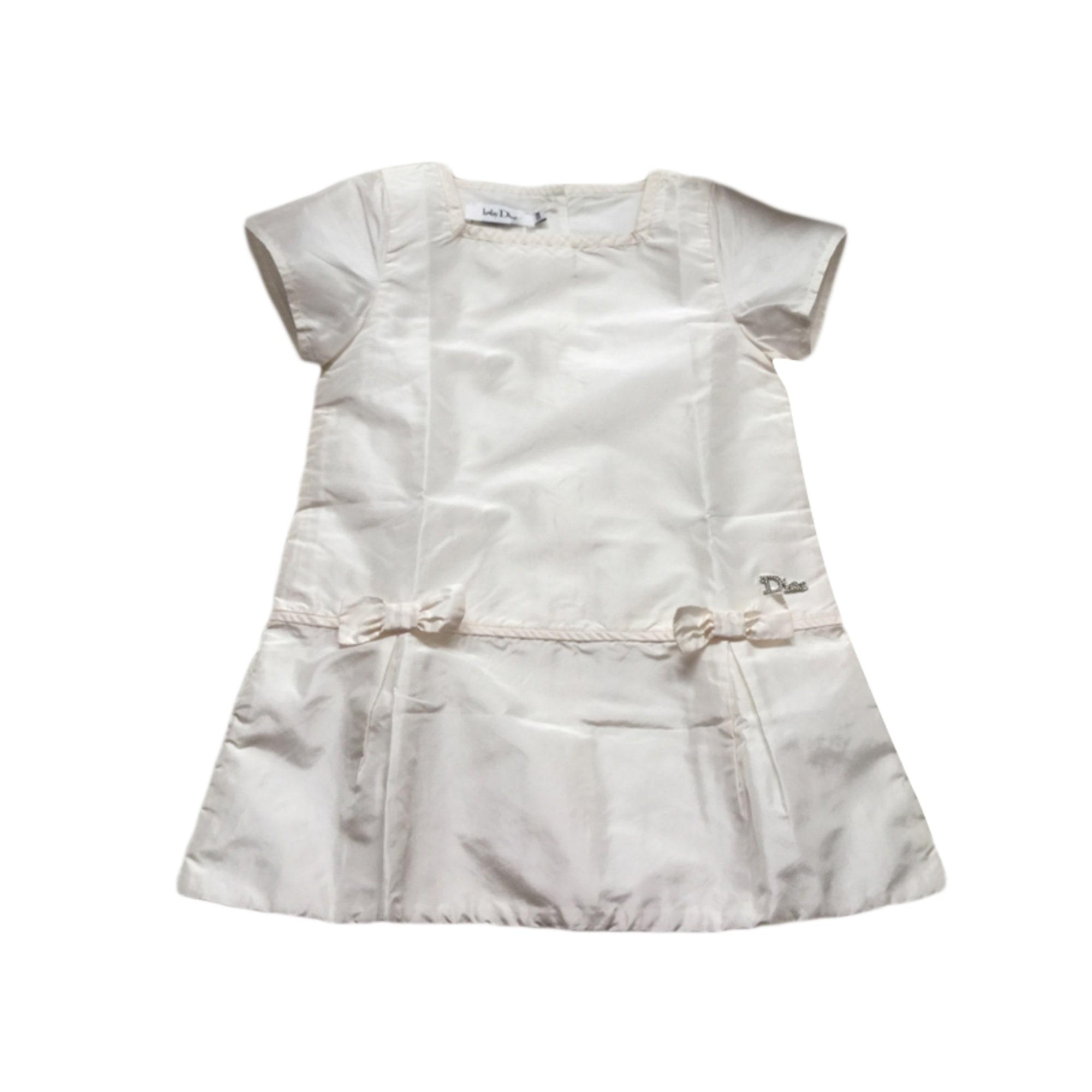 Robe BABY DIOR Blanc, blanc cassé, écru