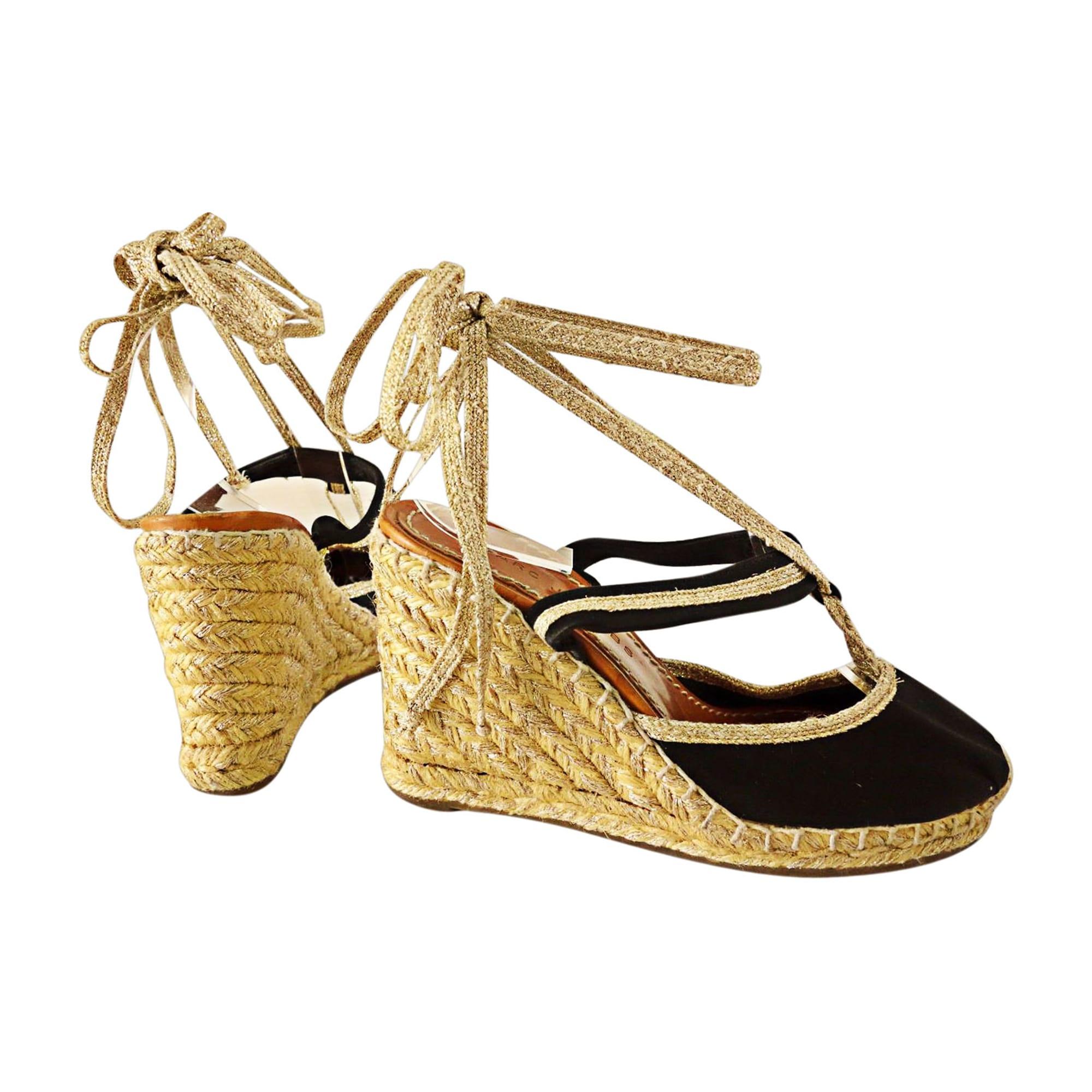 Sandales compensées MARC JACOBS 35 noir   beige   doré - 3649440 e6d058a386b