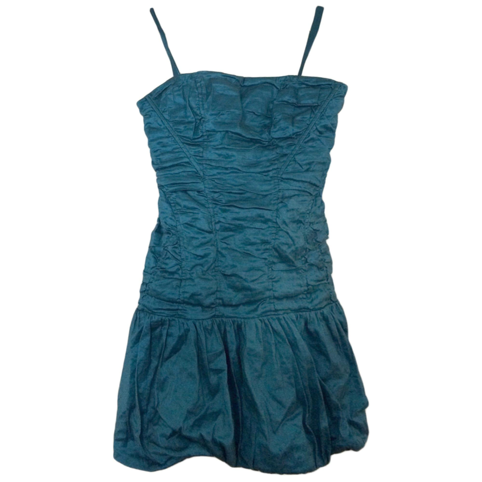 Robe bustier bleu bcbg
