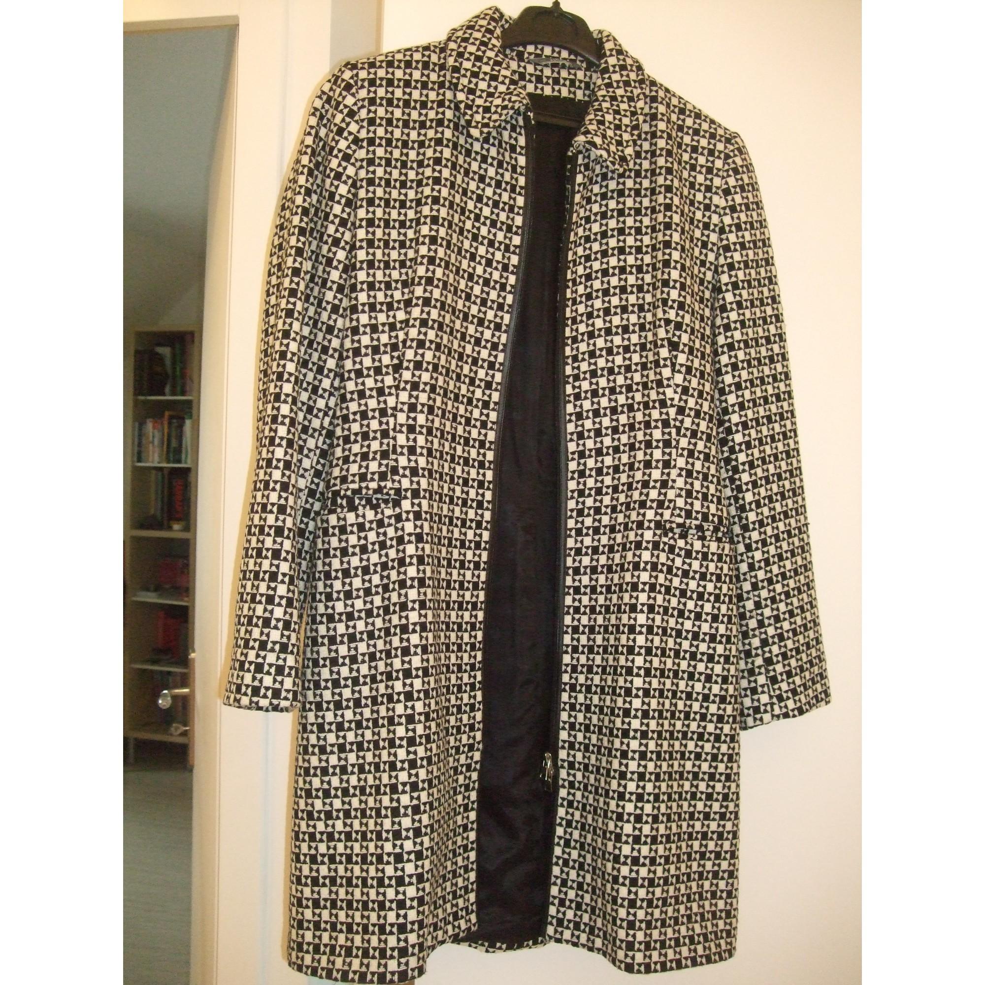 Manteau CAROLL 38 (M, T2) pied de poule noir et blanc - 367874 94b7e05b60e