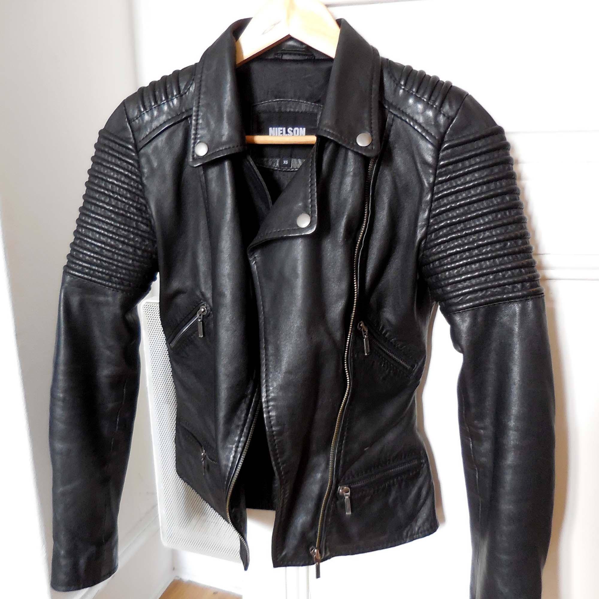 Veste cuir noir xs