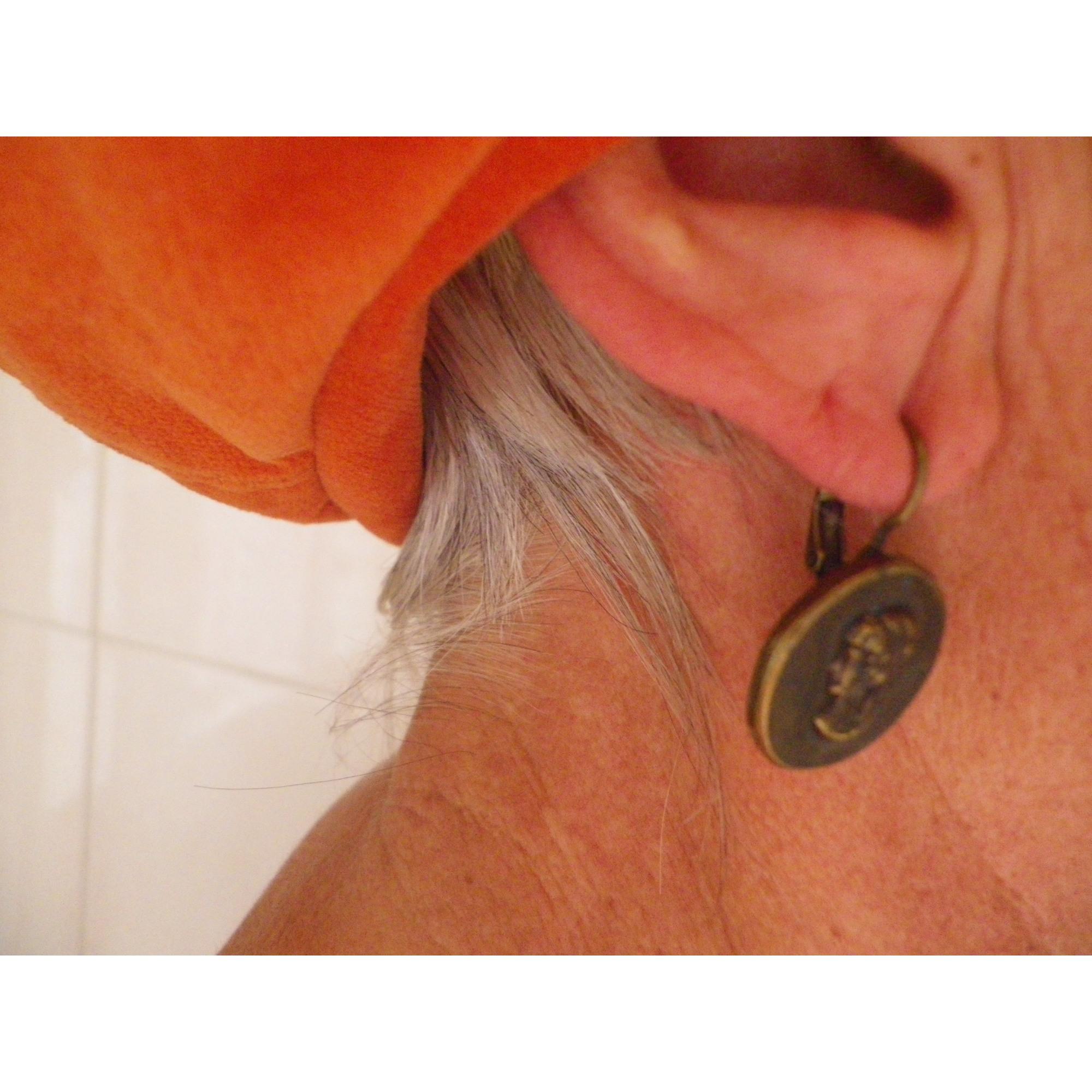 Boucles d'oreille LA TRIBU RIGAUX cuivre doré
