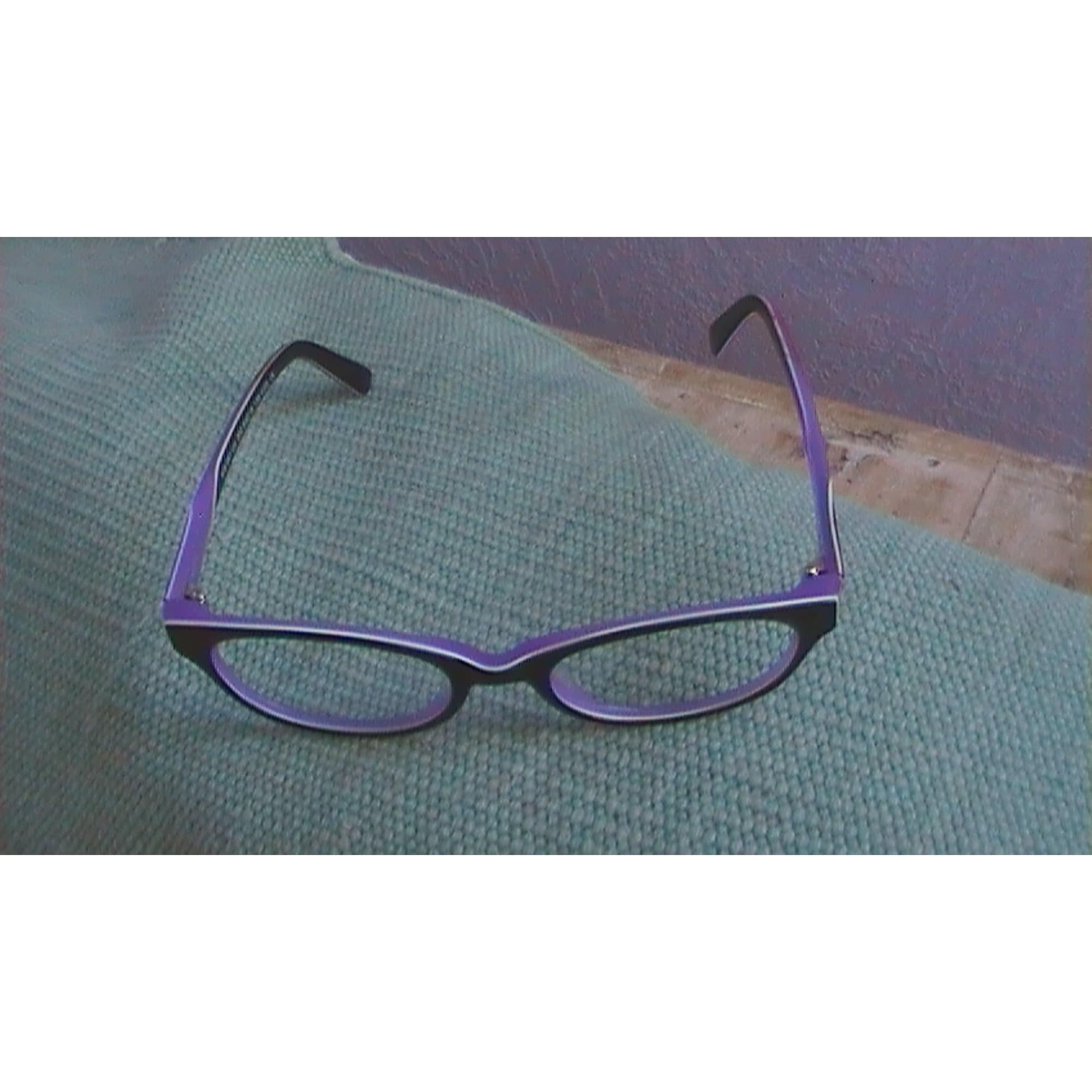 Monture de lunettes KRYS noir et mauve vendu par Christiane 61431868 ... d64d14af349d