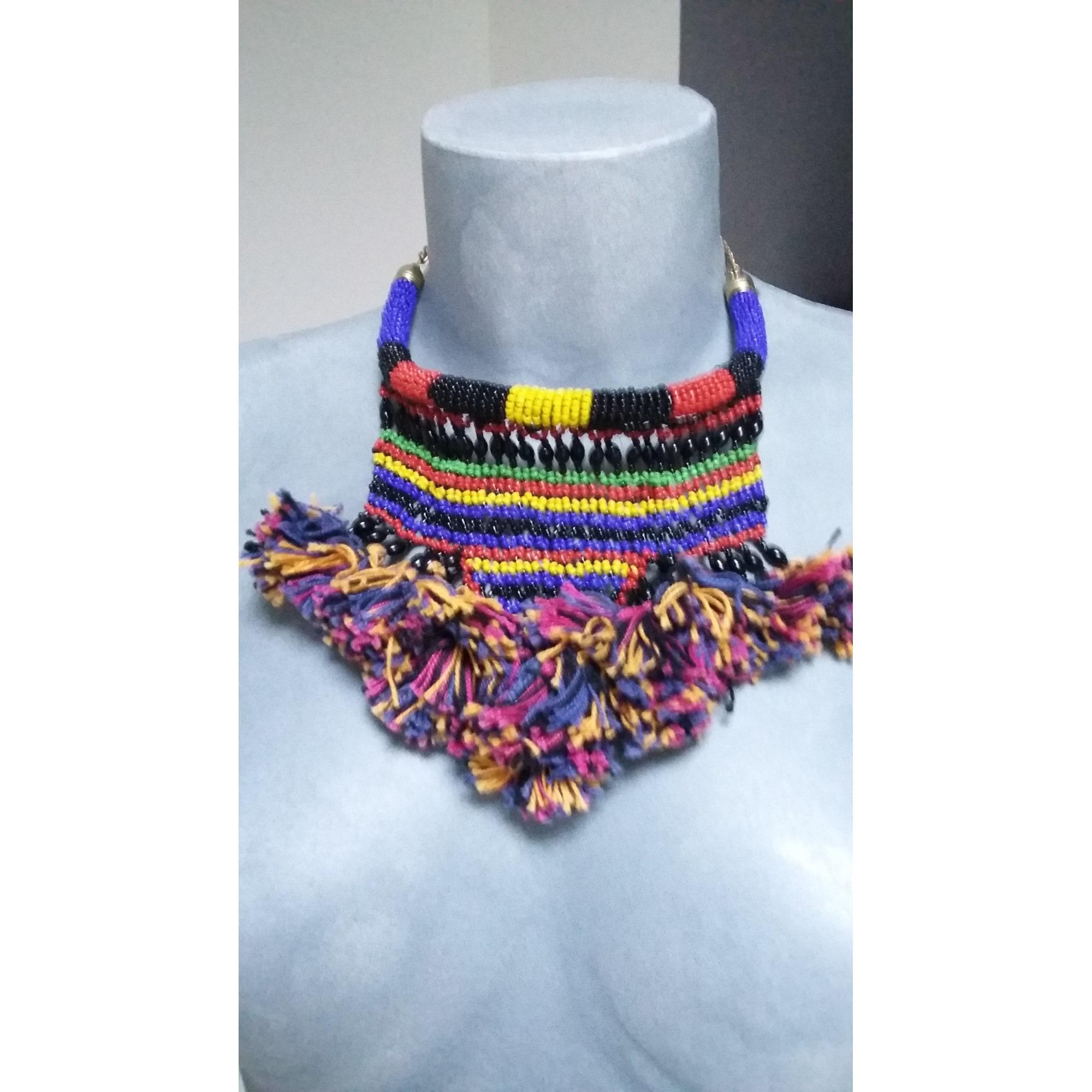 Collier ANTIK BATIK perle multicolore