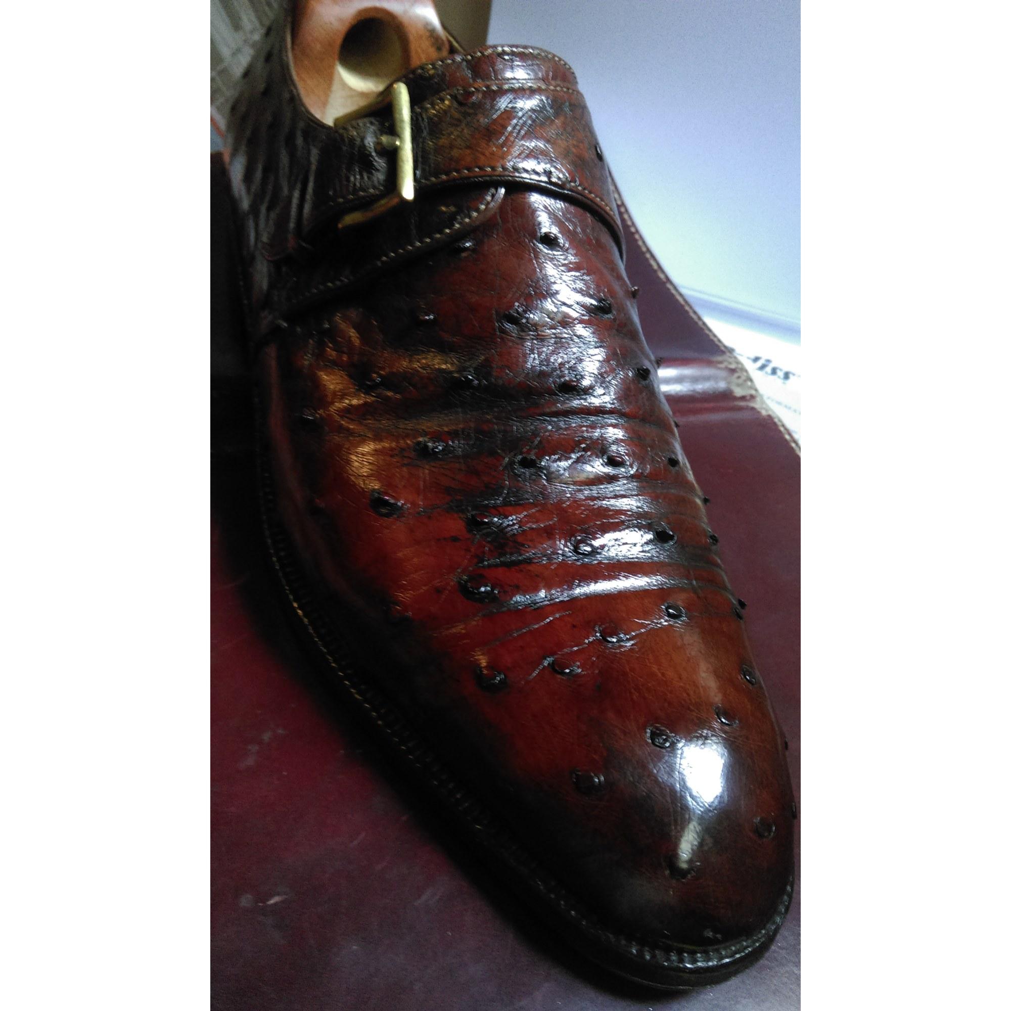 07f3d2f2474a78 Chaussures à boucles JOHN LOBB MESURE 43 marron vendu par Pierre ...