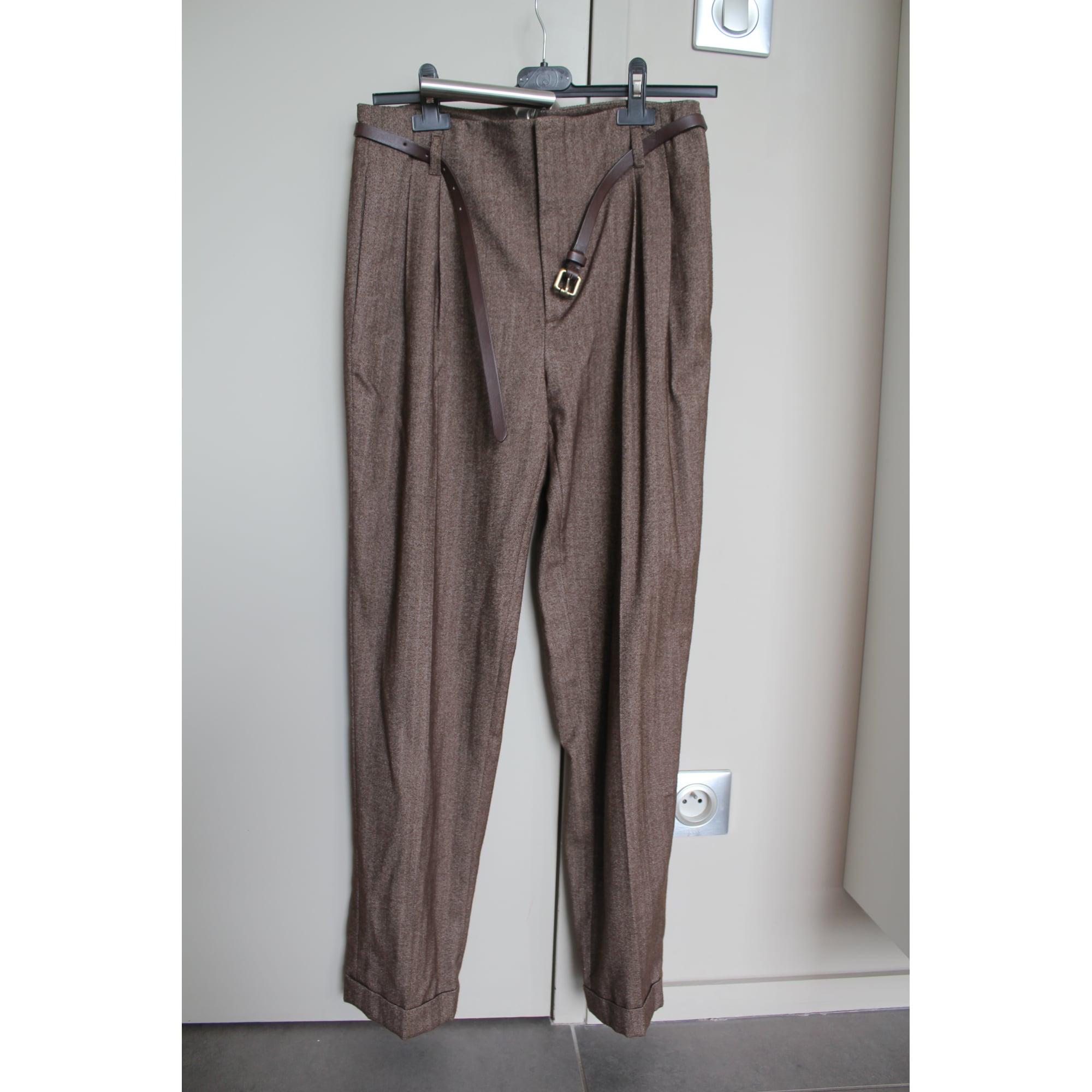 Pantaloni carota Brown Pantaloni Zara di di tdCBhxrsoQ