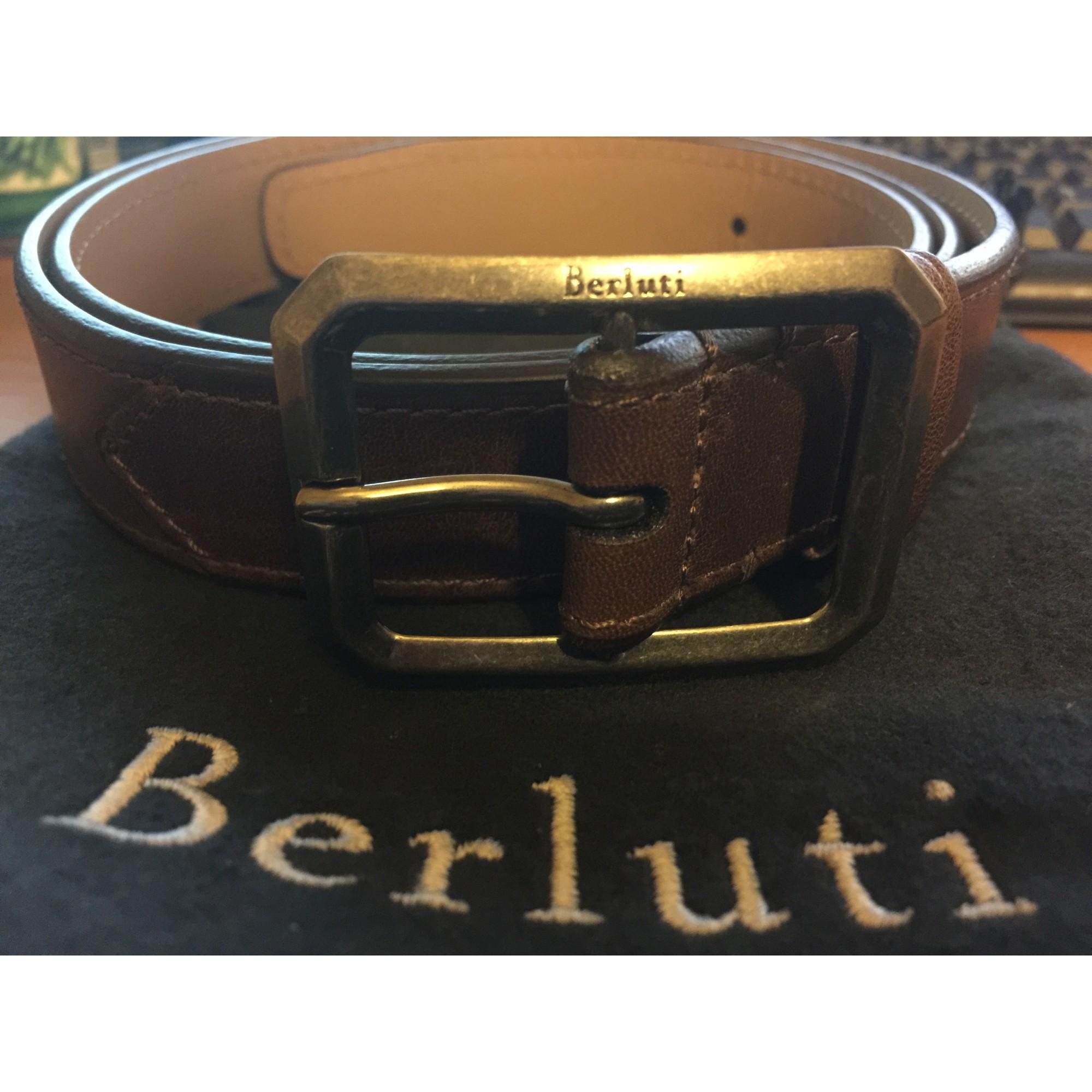Ceinture BERLUTI 95 marron - 3790779 61a610c8c08