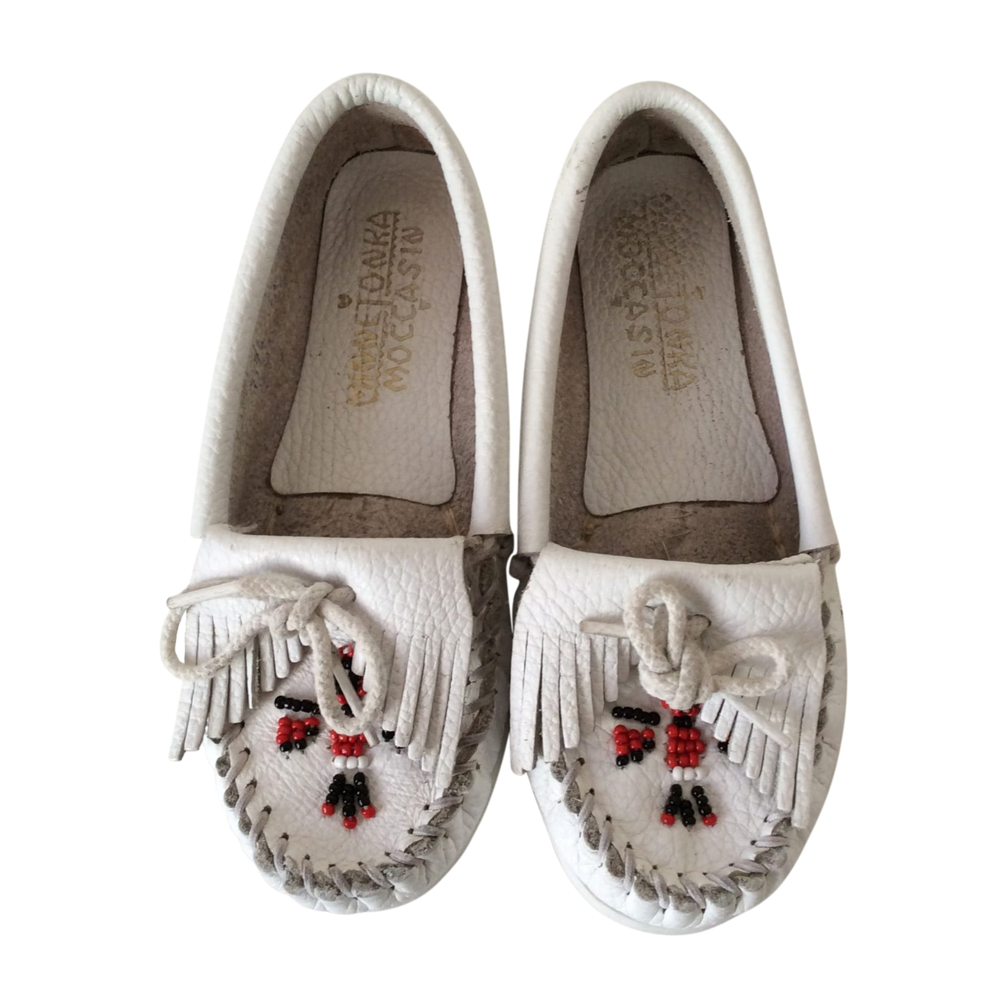 Loafers MINNETONKA White, off-white, ecru