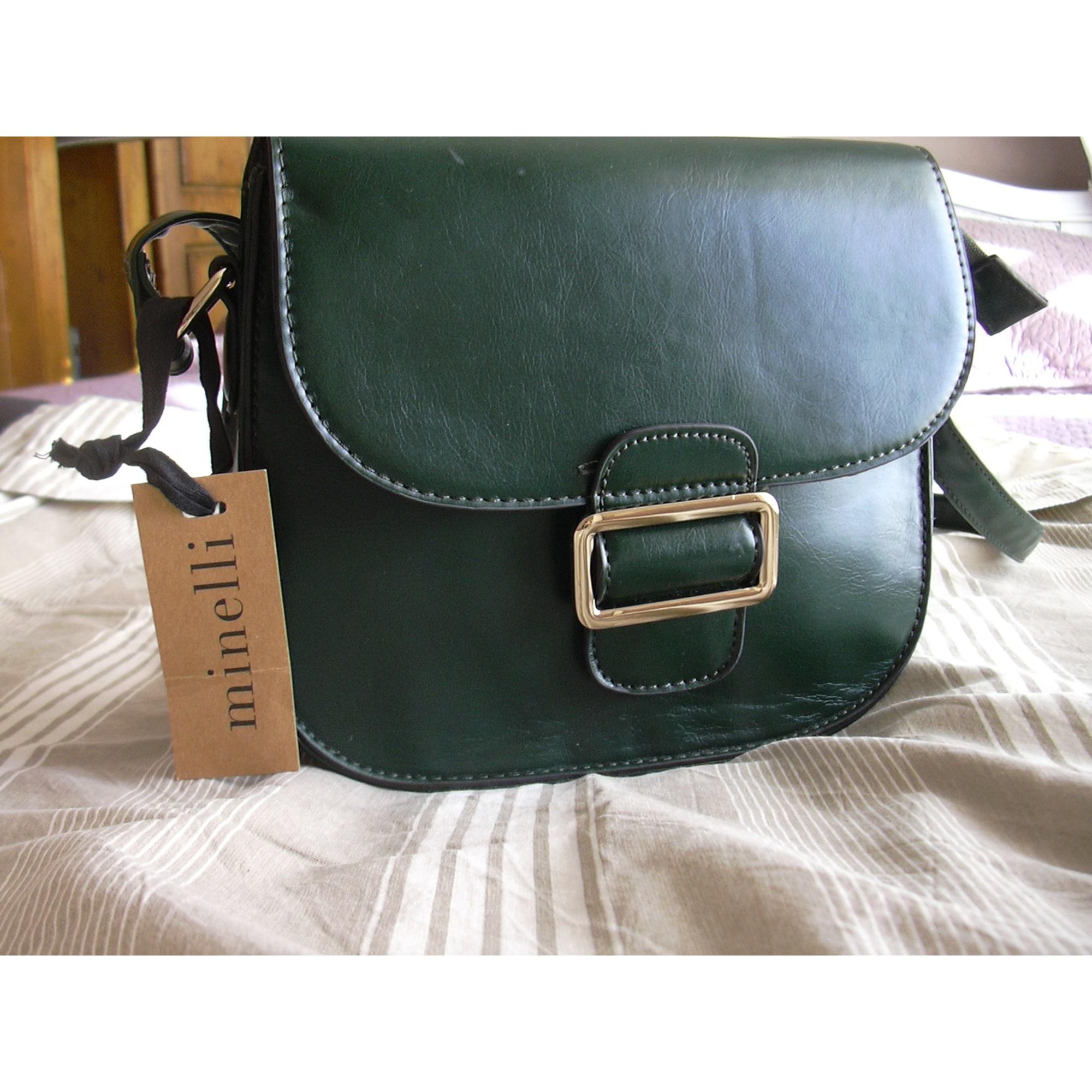 c006d1dcde Sac en bandoulière en cuir MINELLI vert vendu par Chicdressing ...
