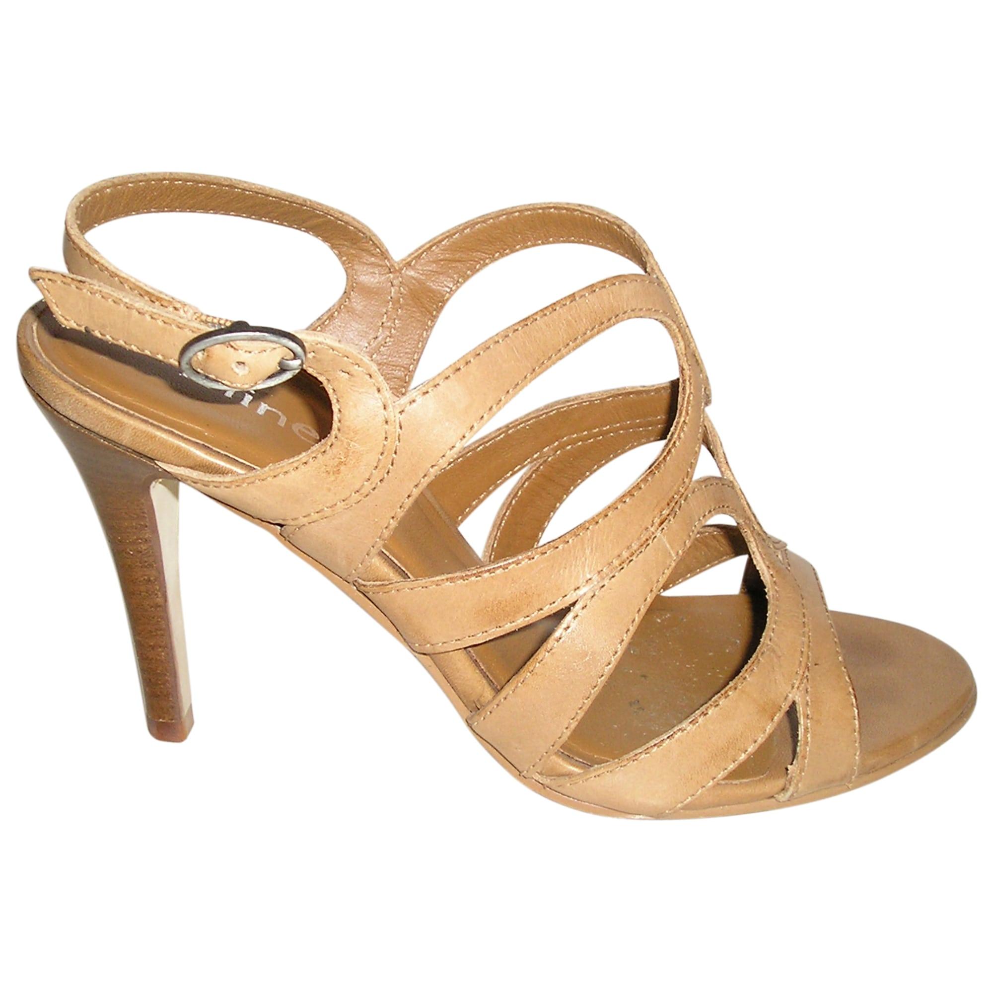 Sandales à talons MINELLI Beige, camel