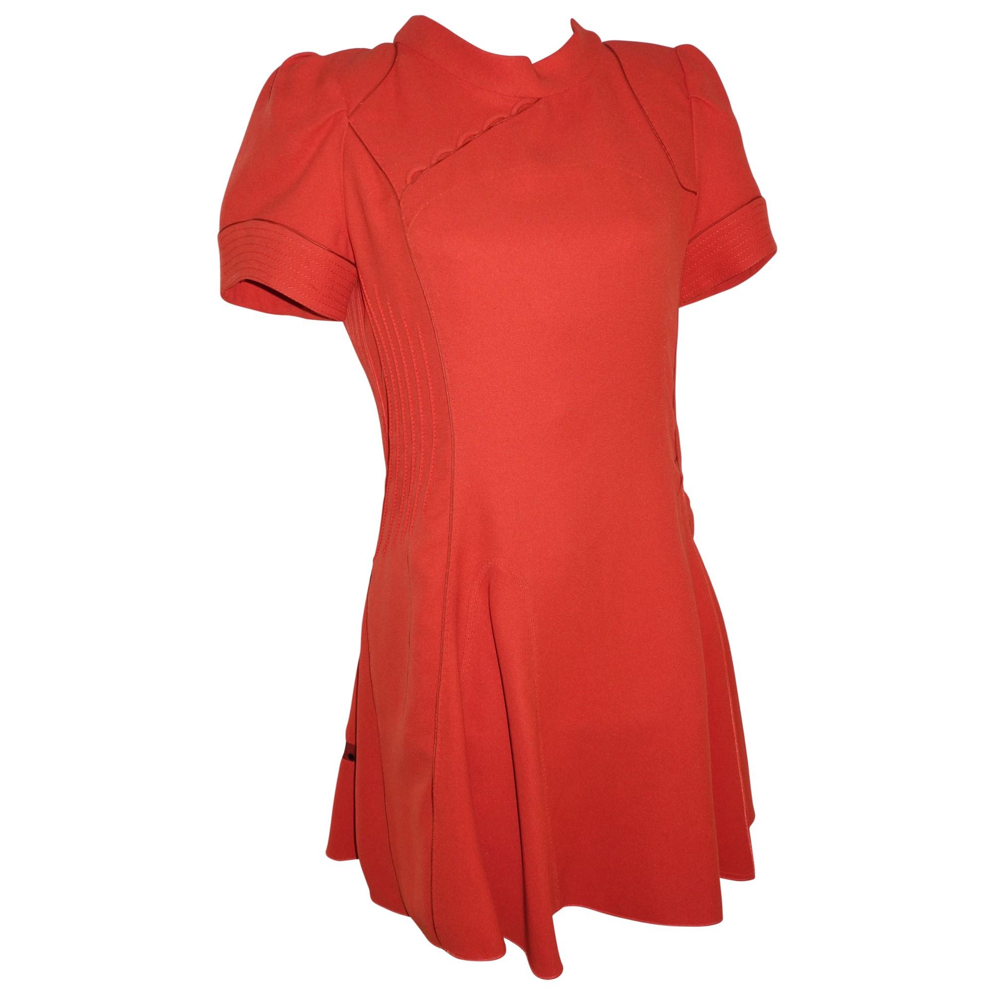 bdc55f64fc7 Robe courte LOUIS VUITTON Orange