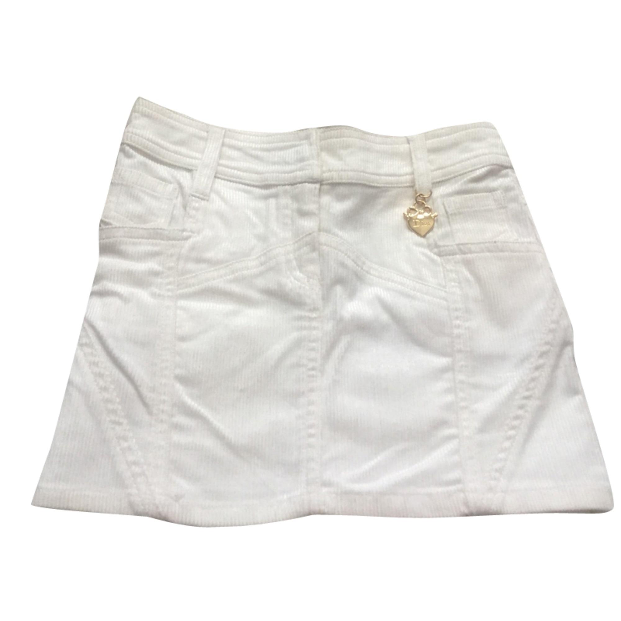 Jupe BABY DIOR Blanc, blanc cassé, écru
