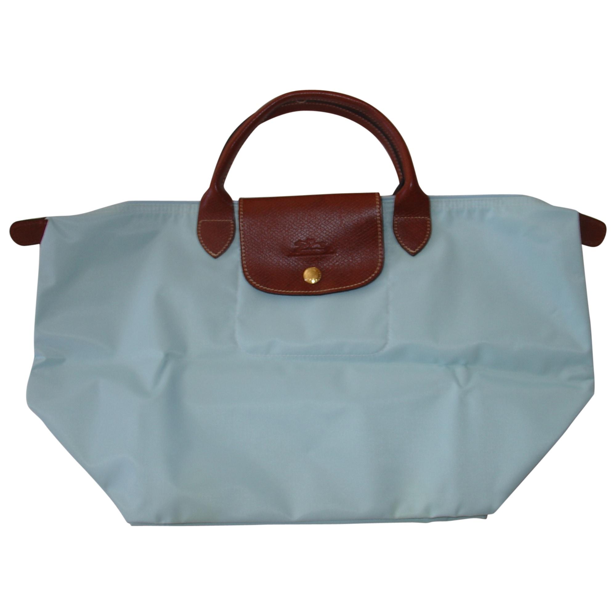 En Par 5245156 À Bleu Main Longchamp Betty 3835579 Sac Vendu Tissu D2IYWEe9H