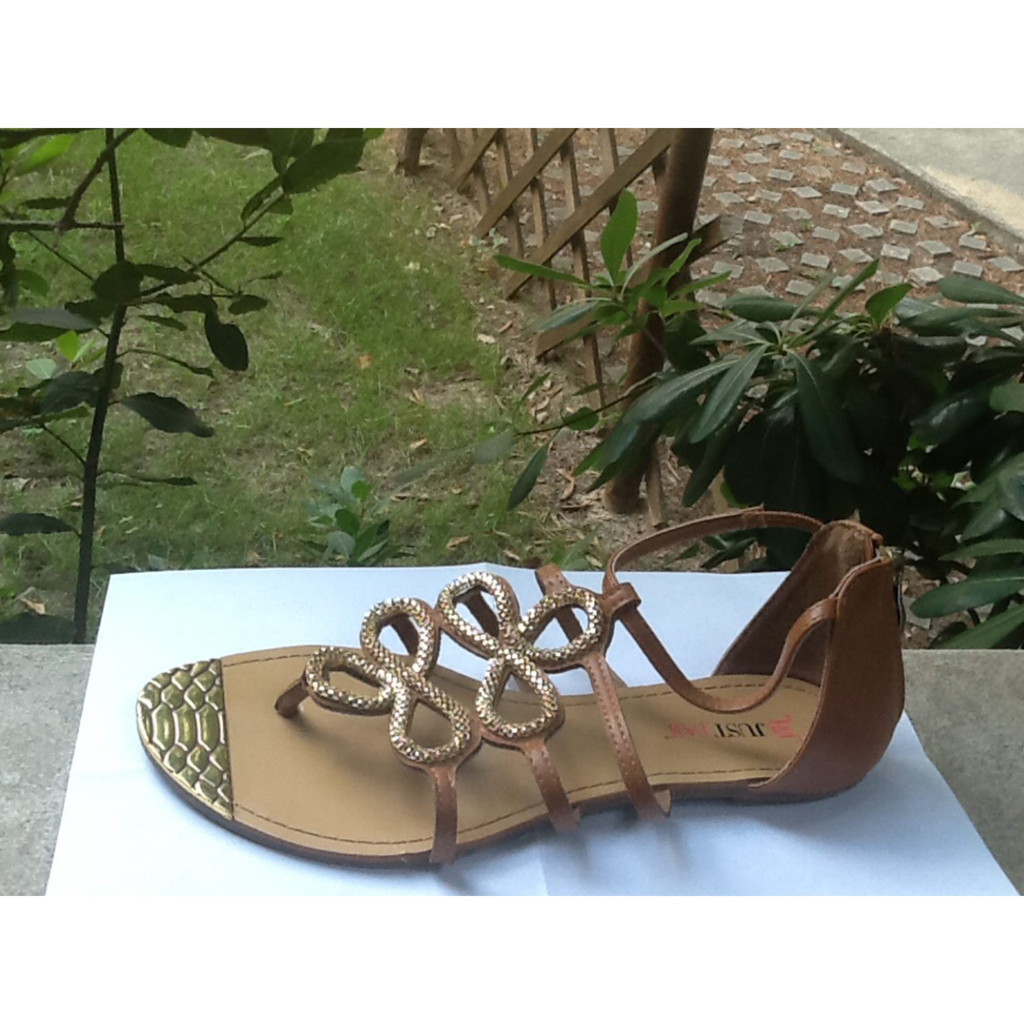 277a608779b Flat Sandals JUSTFAB 38 brown - 3851812