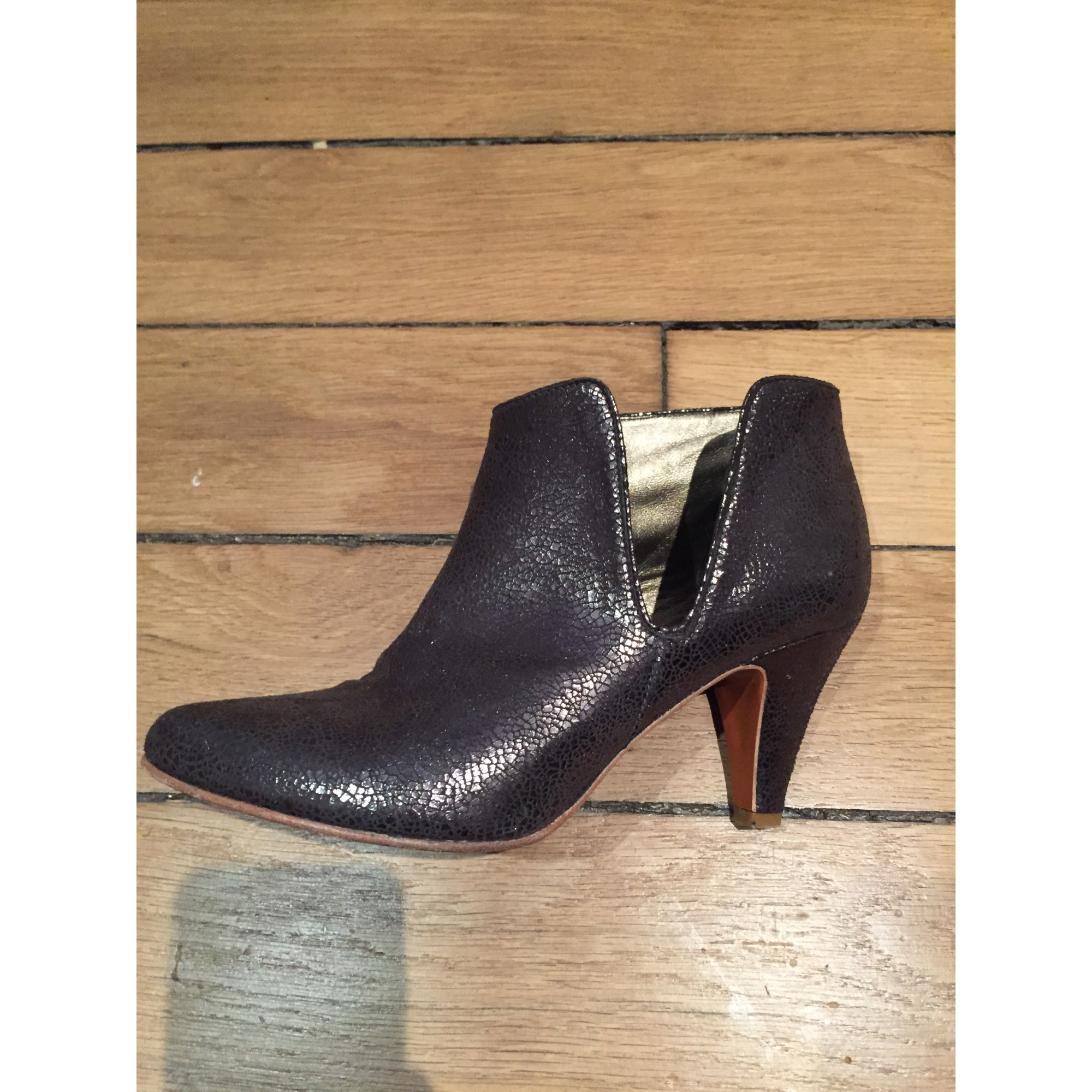 Bottines & low boots plates ADIGE cuir marron 36 MvVgJX8Uy