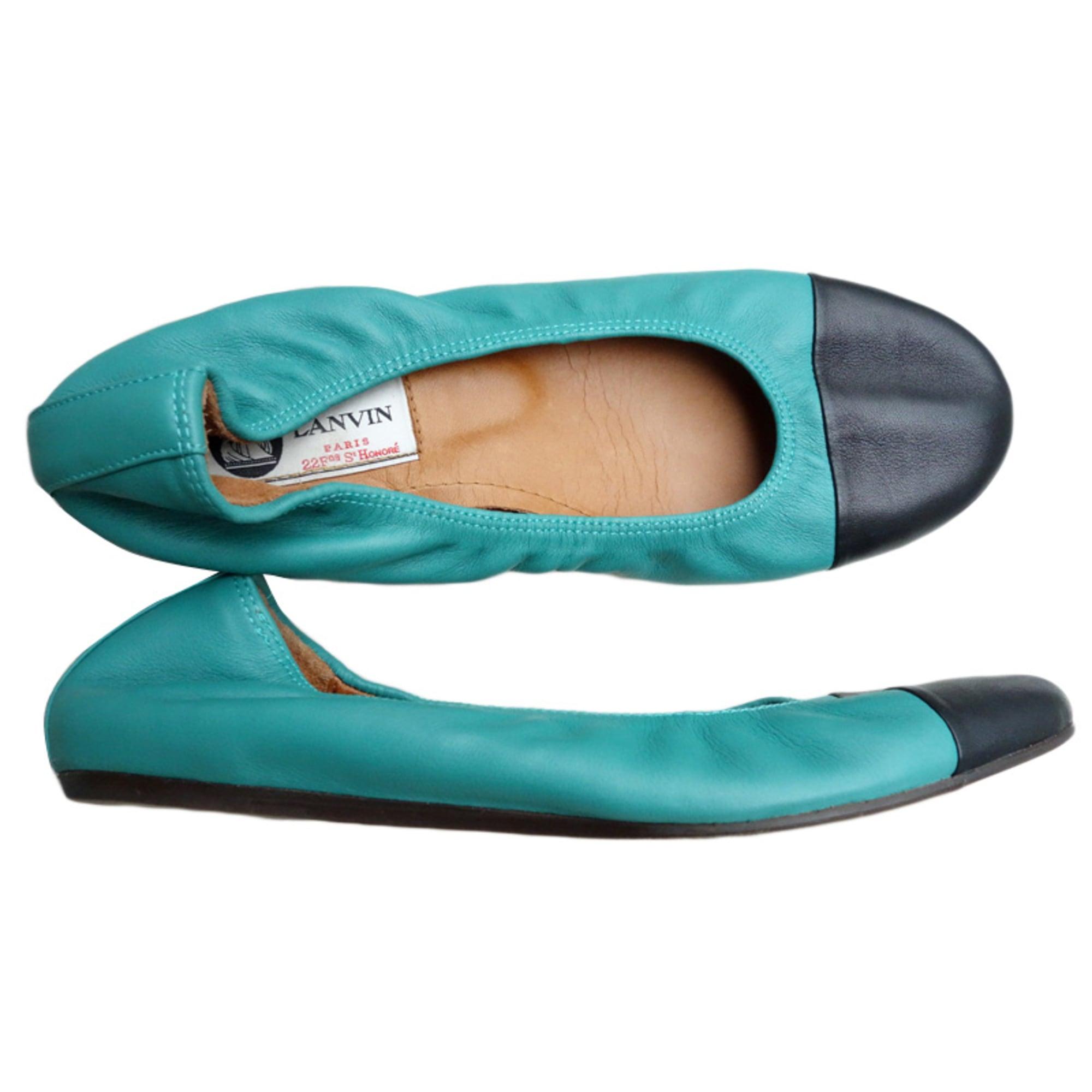35d7c3e2a4a Ballet Flats LANVIN Vert malachite   Noir
