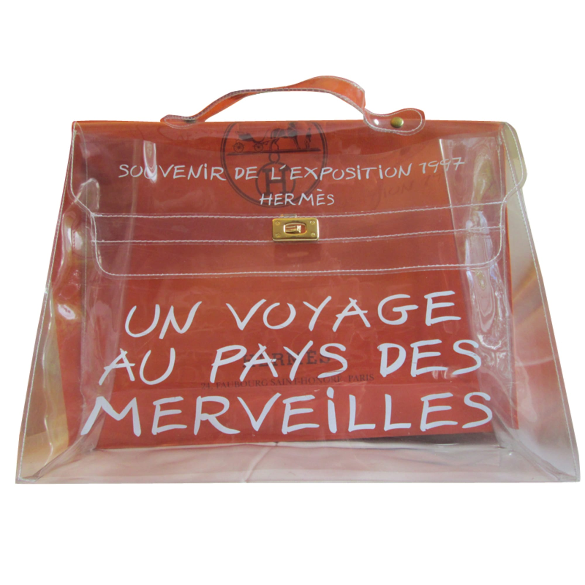 Sac à main en cuir HERMÈS kelly transparent vendu par Helena 8278720 ... df8cd9f73db